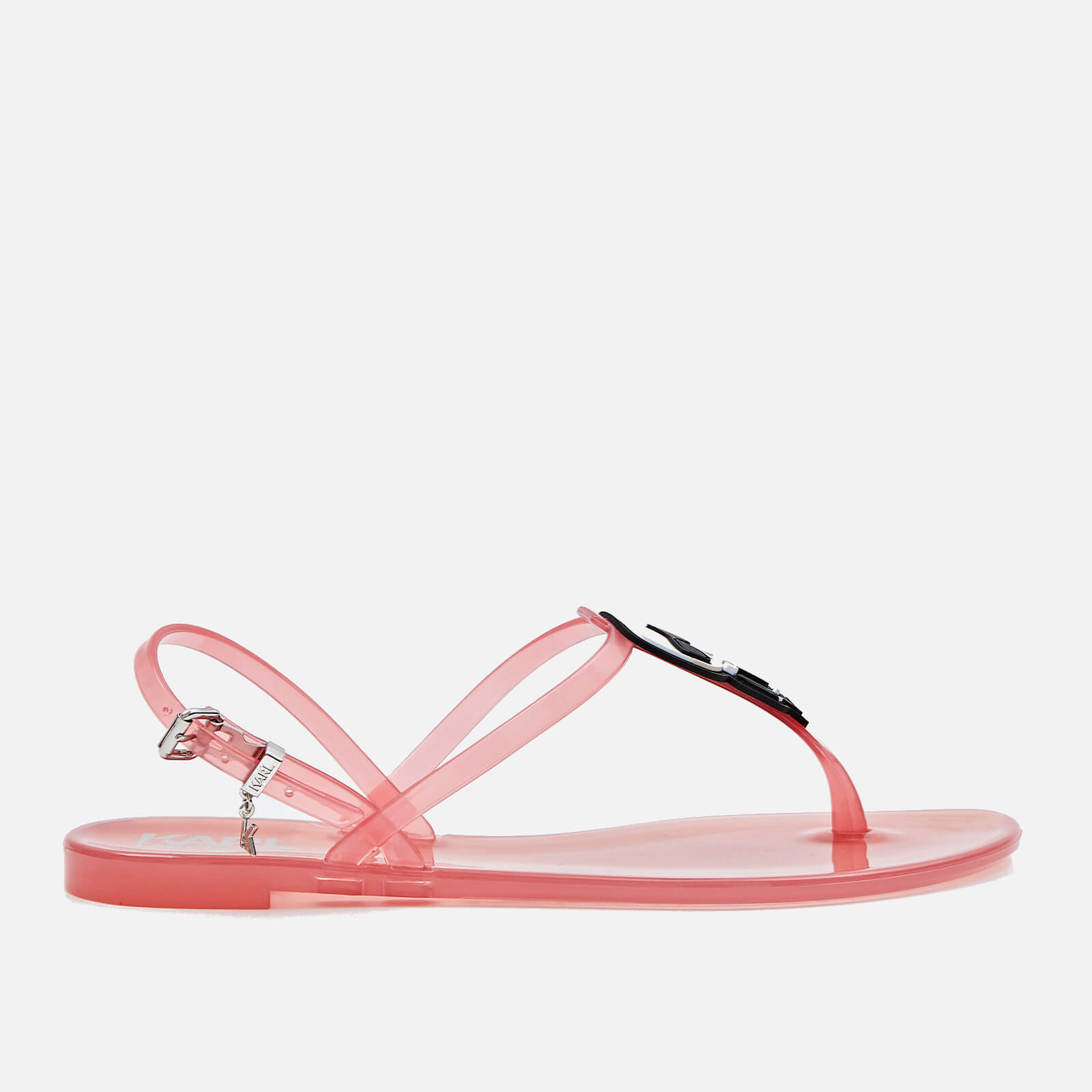 Karl Lagerfeld Womens Jelly Ikonic Karl Sandals Light Pink Uk 5