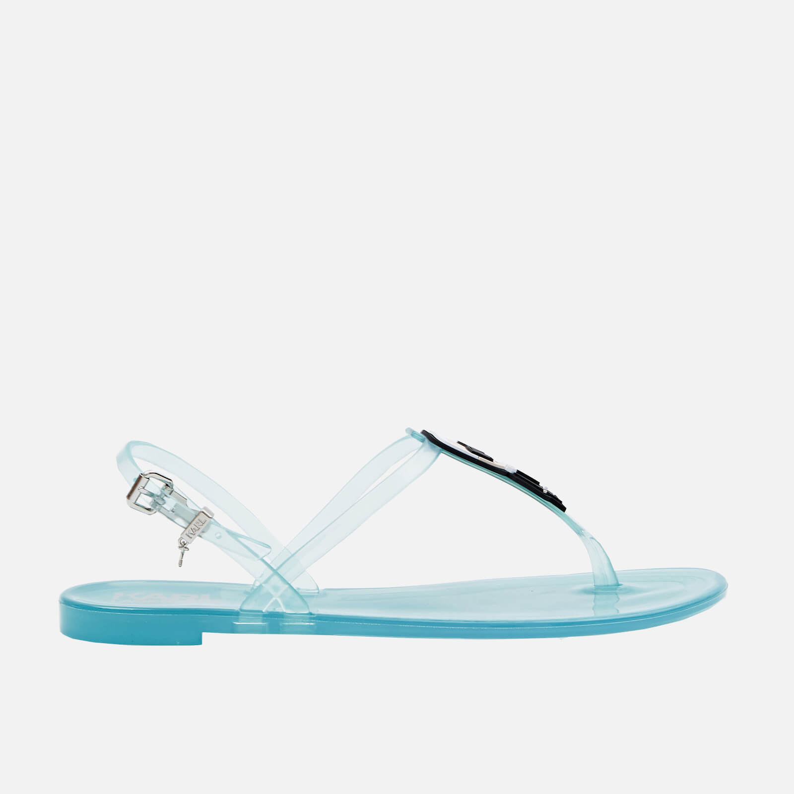 Karl Lagerfeld Womens Jelly Ikonic Karl Sandals Light Blue Uk 2