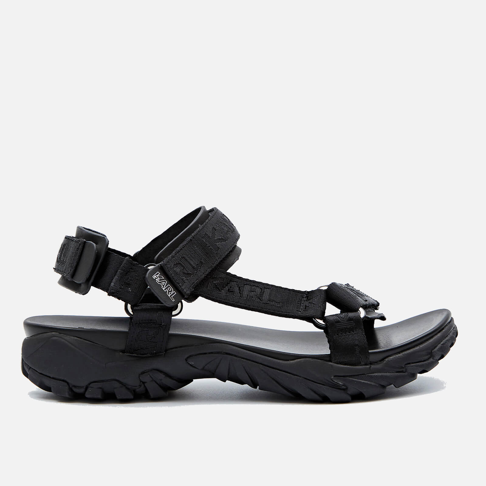 Karl Lagerfeld Mens Volt Aktiv Karl Strap Run Sandals Black Uk 10