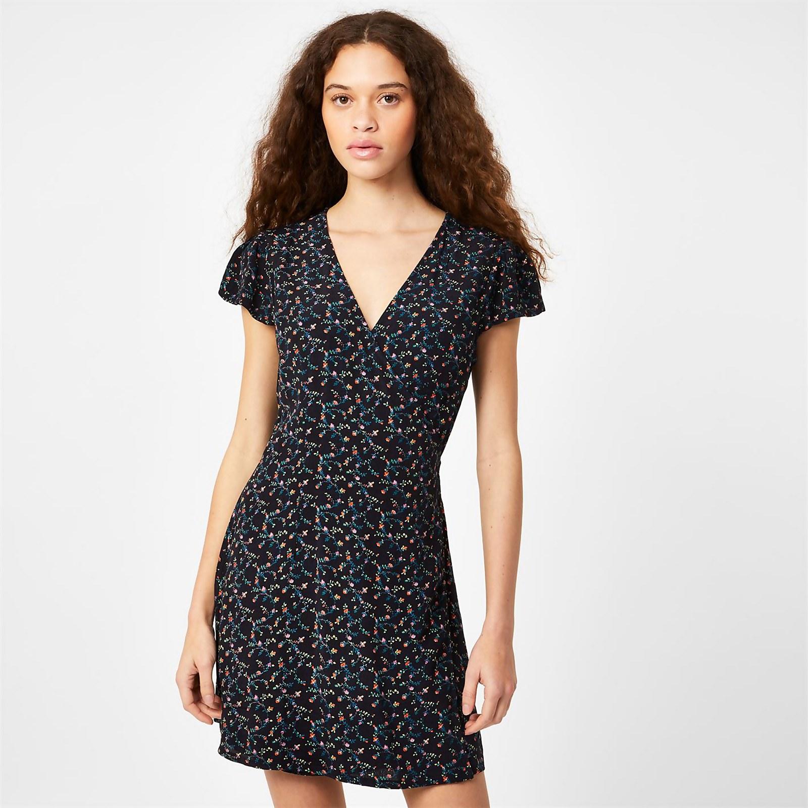 Eastbourne Wrap Dress - Navy