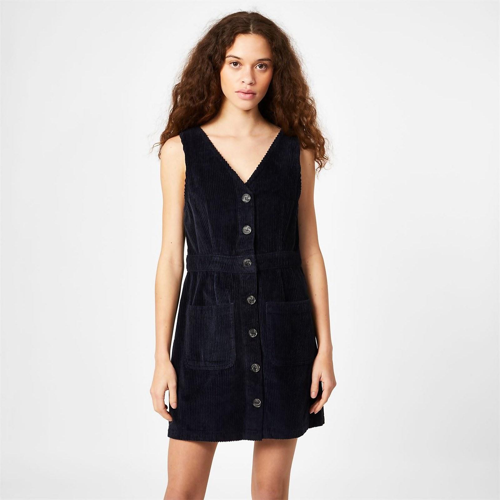 Amber Cord Dress - Navy