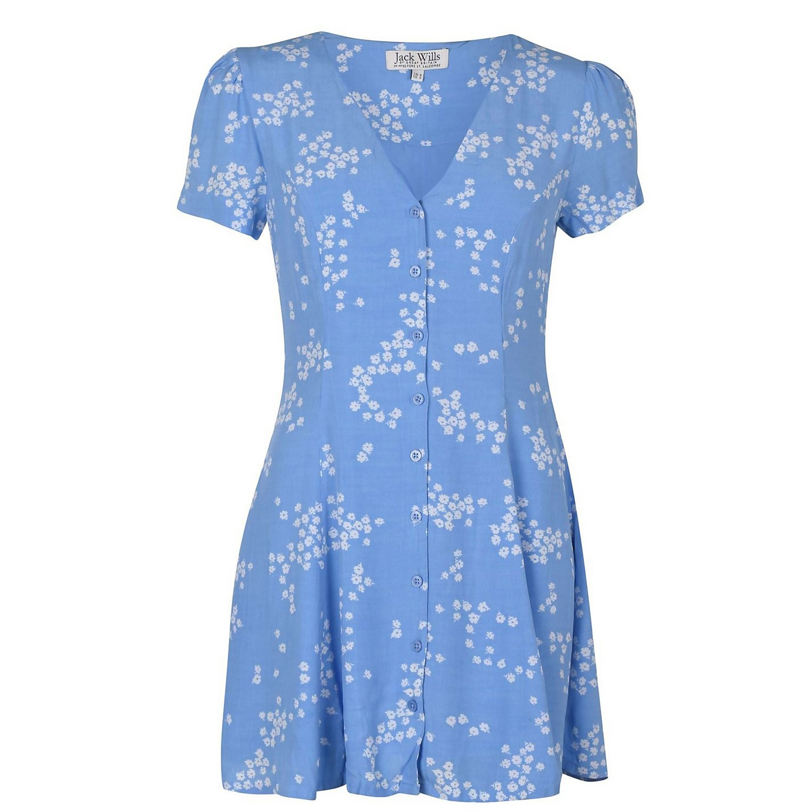 Mollie Fit And Flare Dress - Blue Print