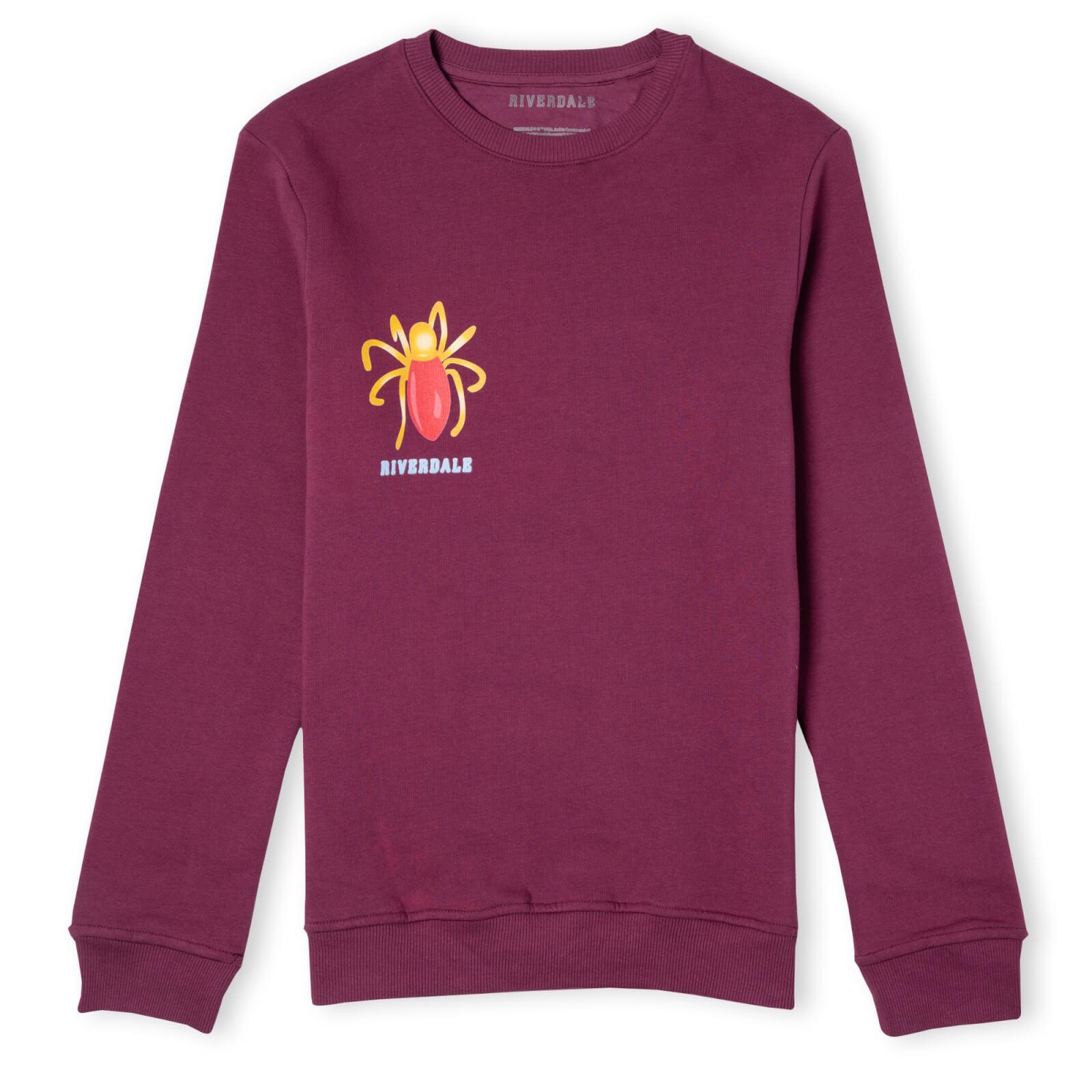 Riverdale Cheryl Blossom Broach Unisex Sweatshirt - Burgundy - L - Burgundy