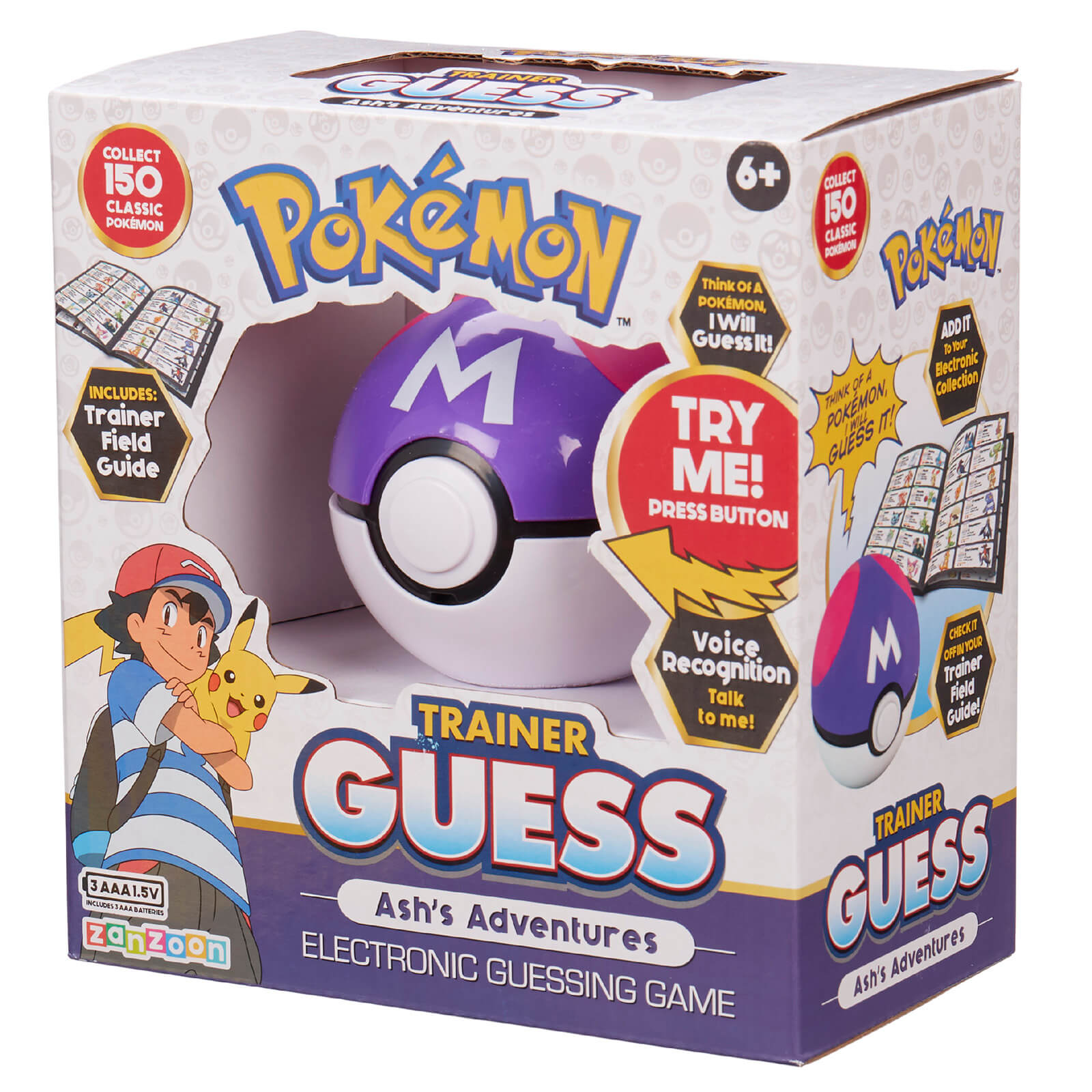 Image of Pokémon Trainer Guess Ash's Adventures Game