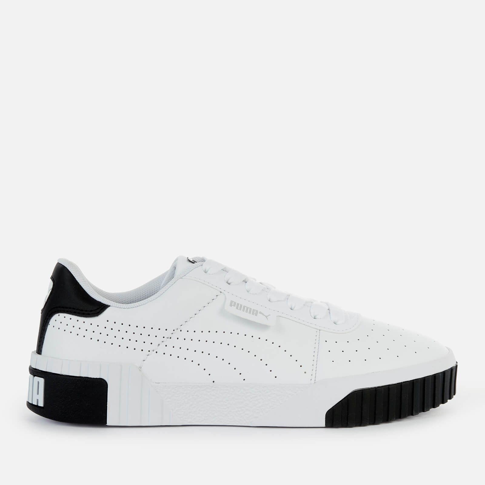 Click to view product details and reviews for Puma Womens Cali Perforated Leather Trainers Puma White Puma Black Puma Silver Uk 3.