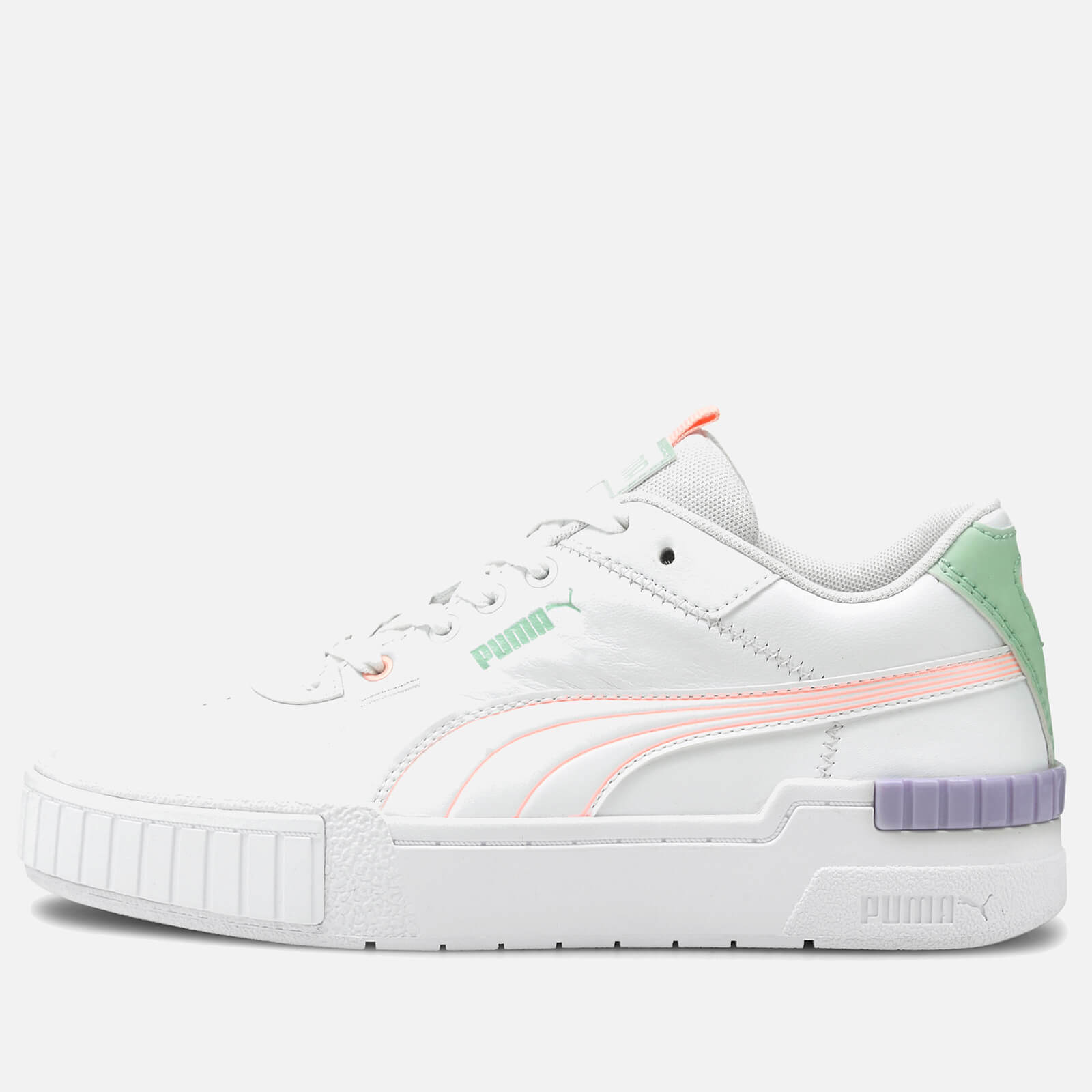 Click to view product details and reviews for Puma Womens Cali Sport Pastel Mix Trainers Puma White Elektro Peach Mist Green Light Lavender Uk 3.
