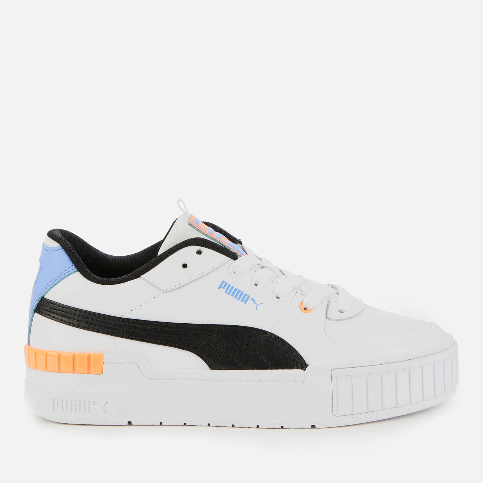 Puma Womens Cali Sport Trainers Puma White Soft Fluo Orange Uk 5