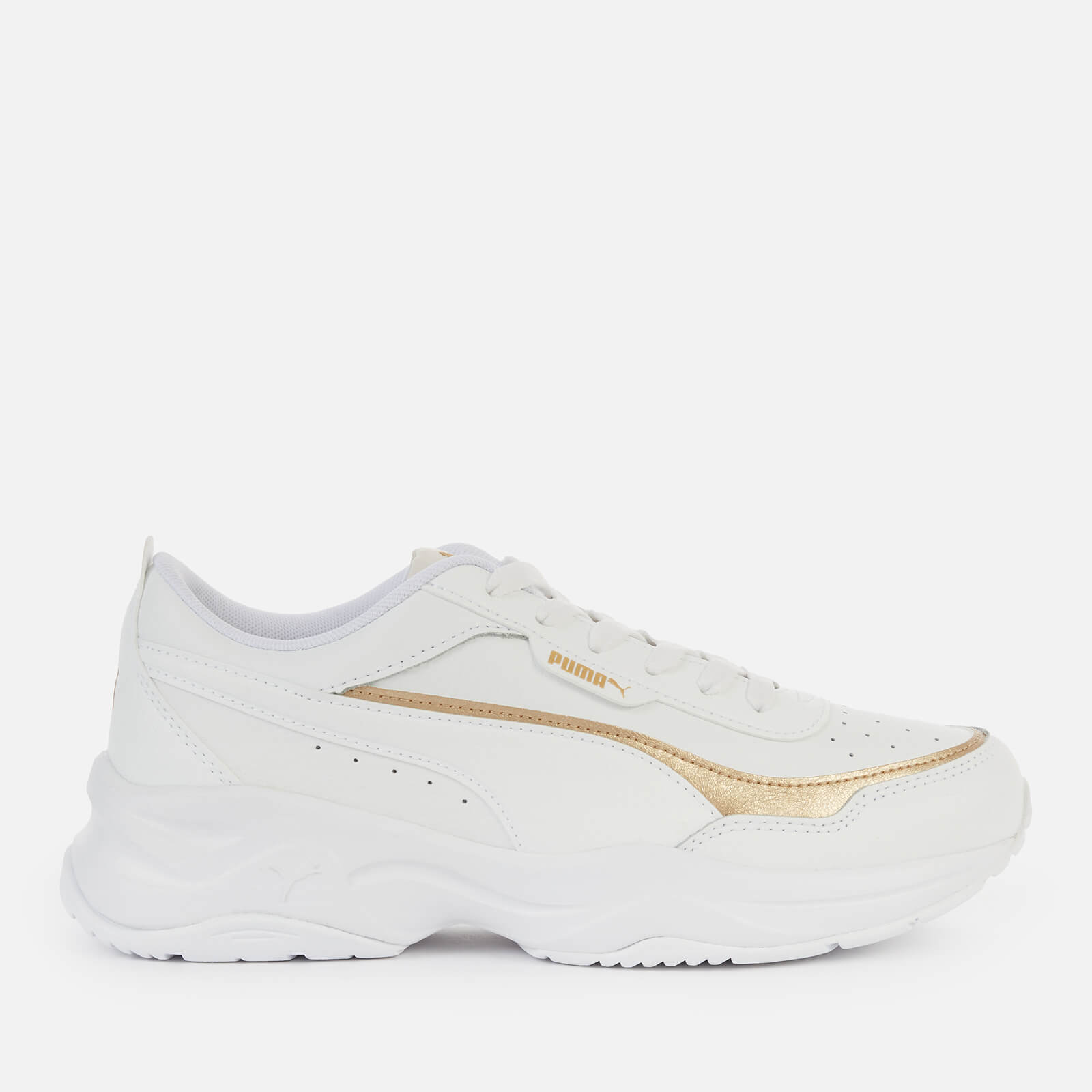 Puma Womens Cilia Mode Lux Trainers Puma White Puma White Puma Team Gold Uk 4