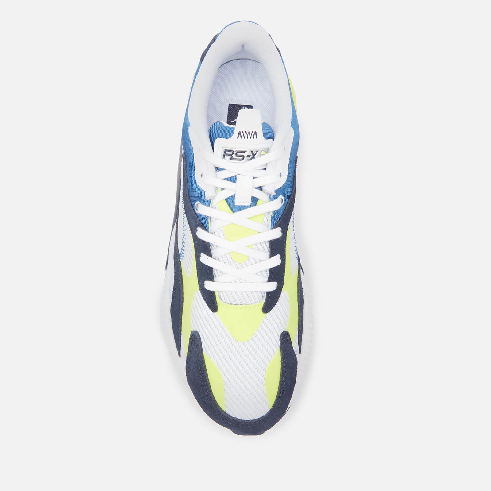 puma men's rs x3 twill airmes running style trainers - puma white/peacoat - uk 7