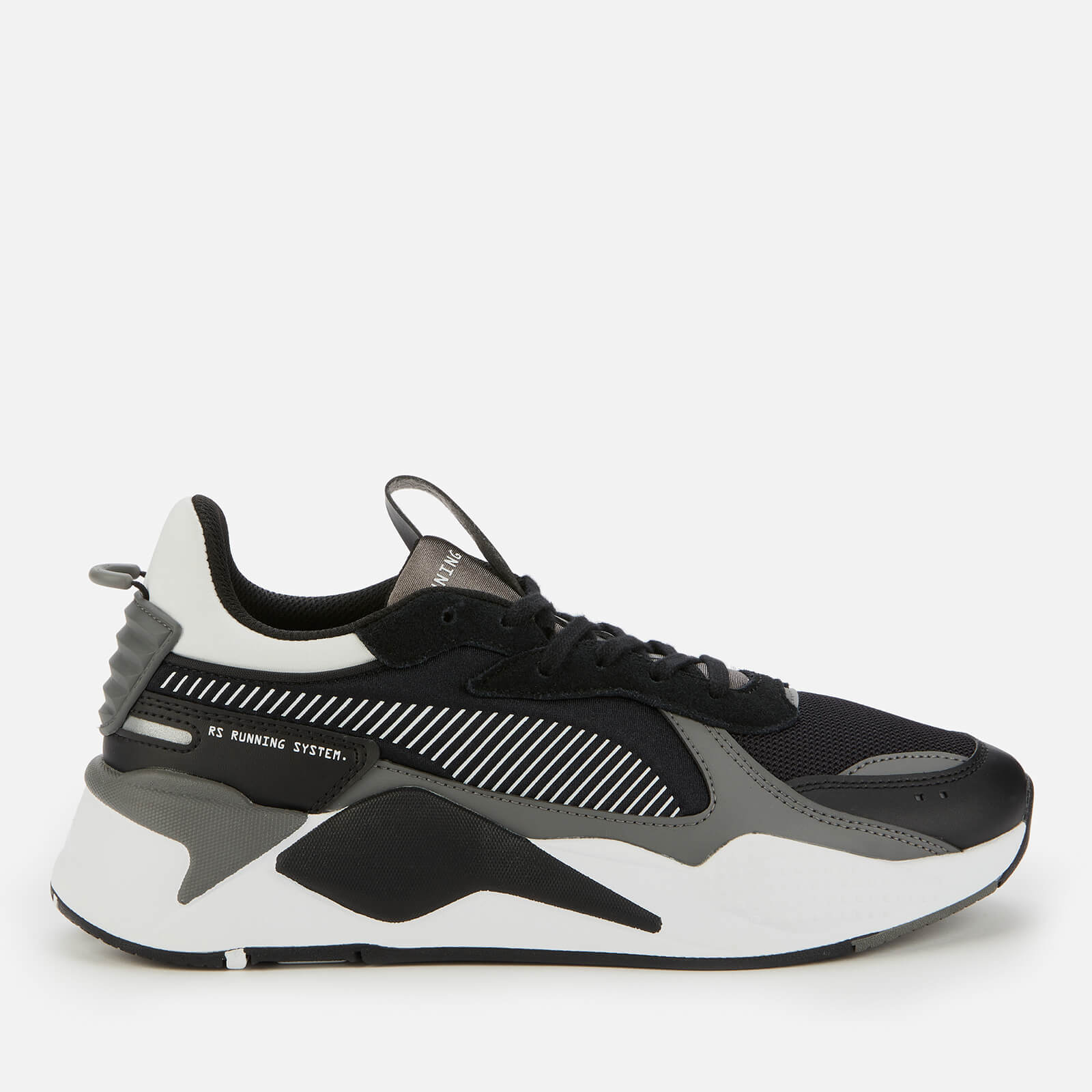 Puma Mens Rs X Mix Running Style Trainers Puma Black Castlerock Uk 9