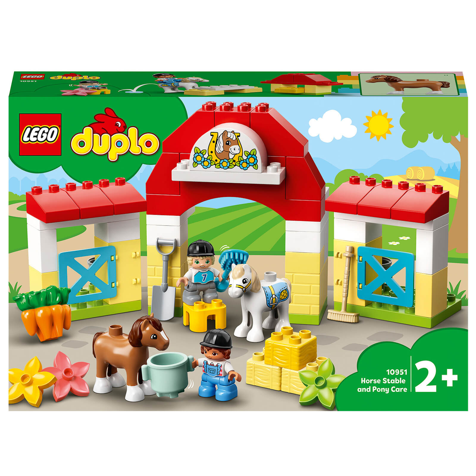 Image of Lego Duplo Town Horse Stable and Pony Care Construction Set