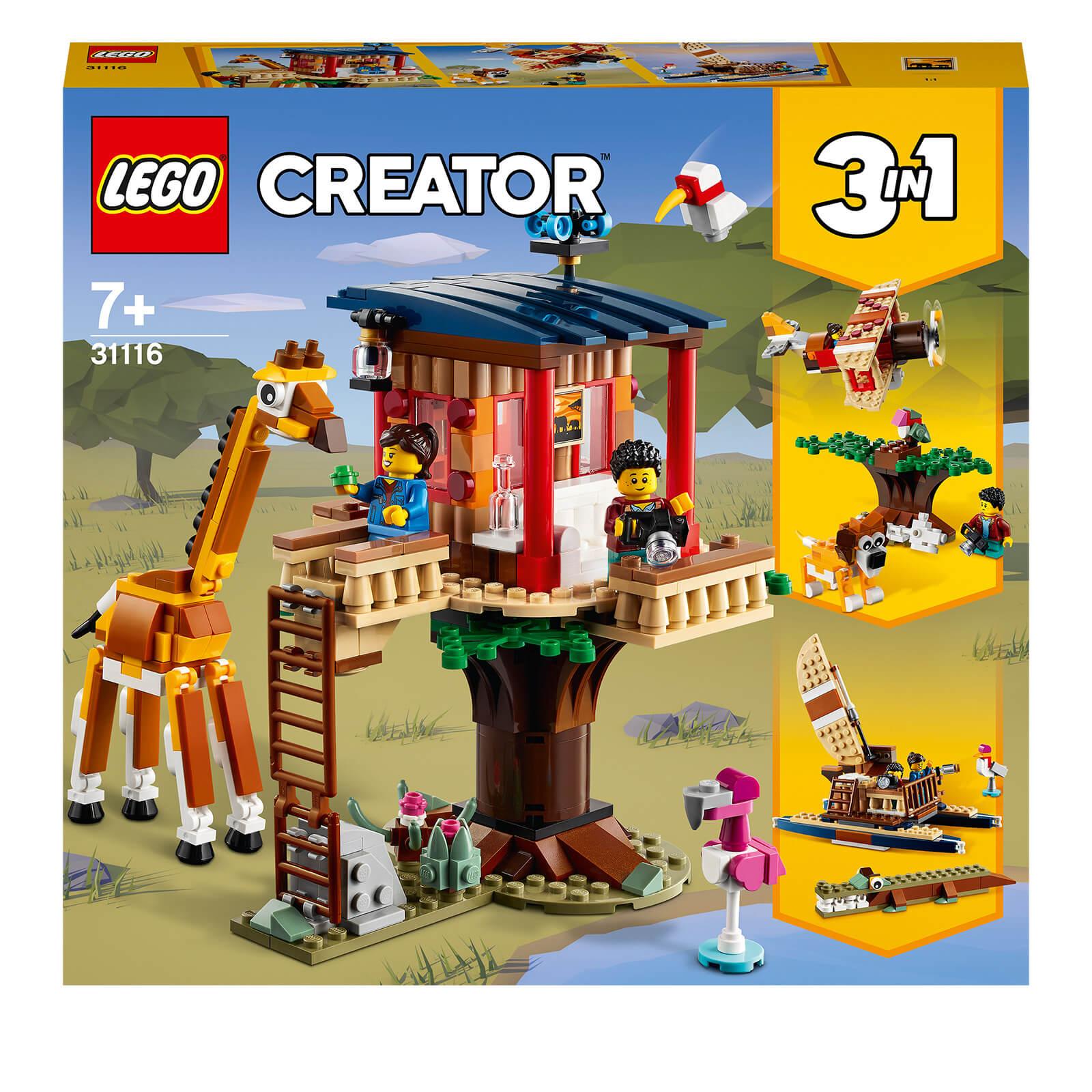 LEGO Creator: 3 in 1 Safari Wildlife Tree House Set (31116)