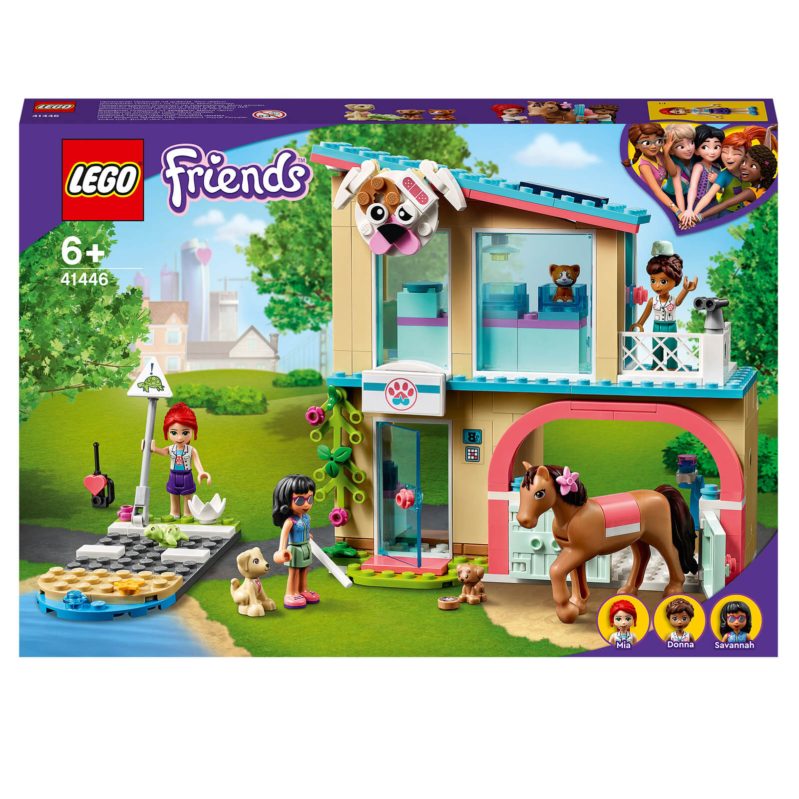 Image of Lego Friends Heartlake City Vet Clinic Construction Set