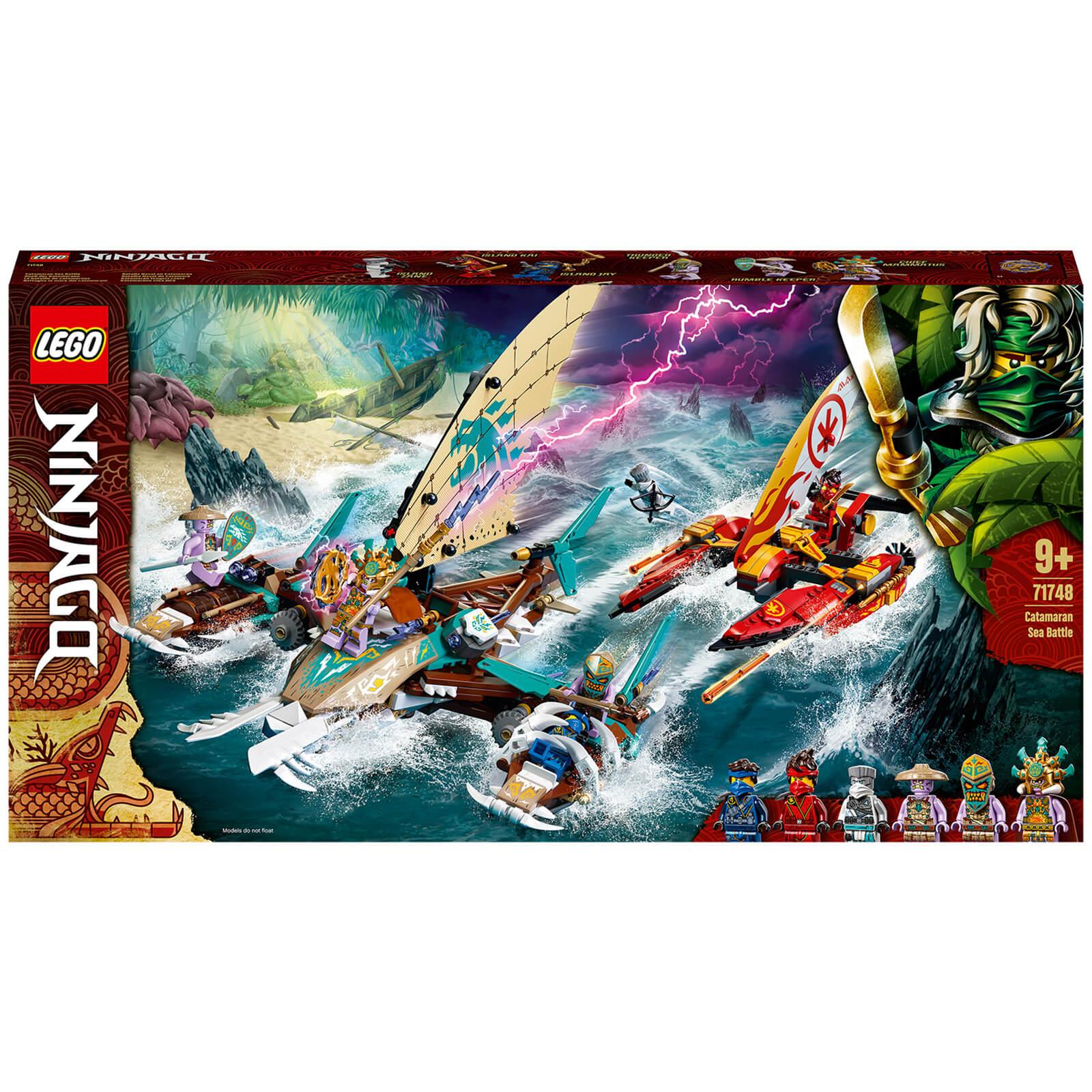 Image of LEGO NINJAGO: Catamaran Sea Battle Building Set (71748)