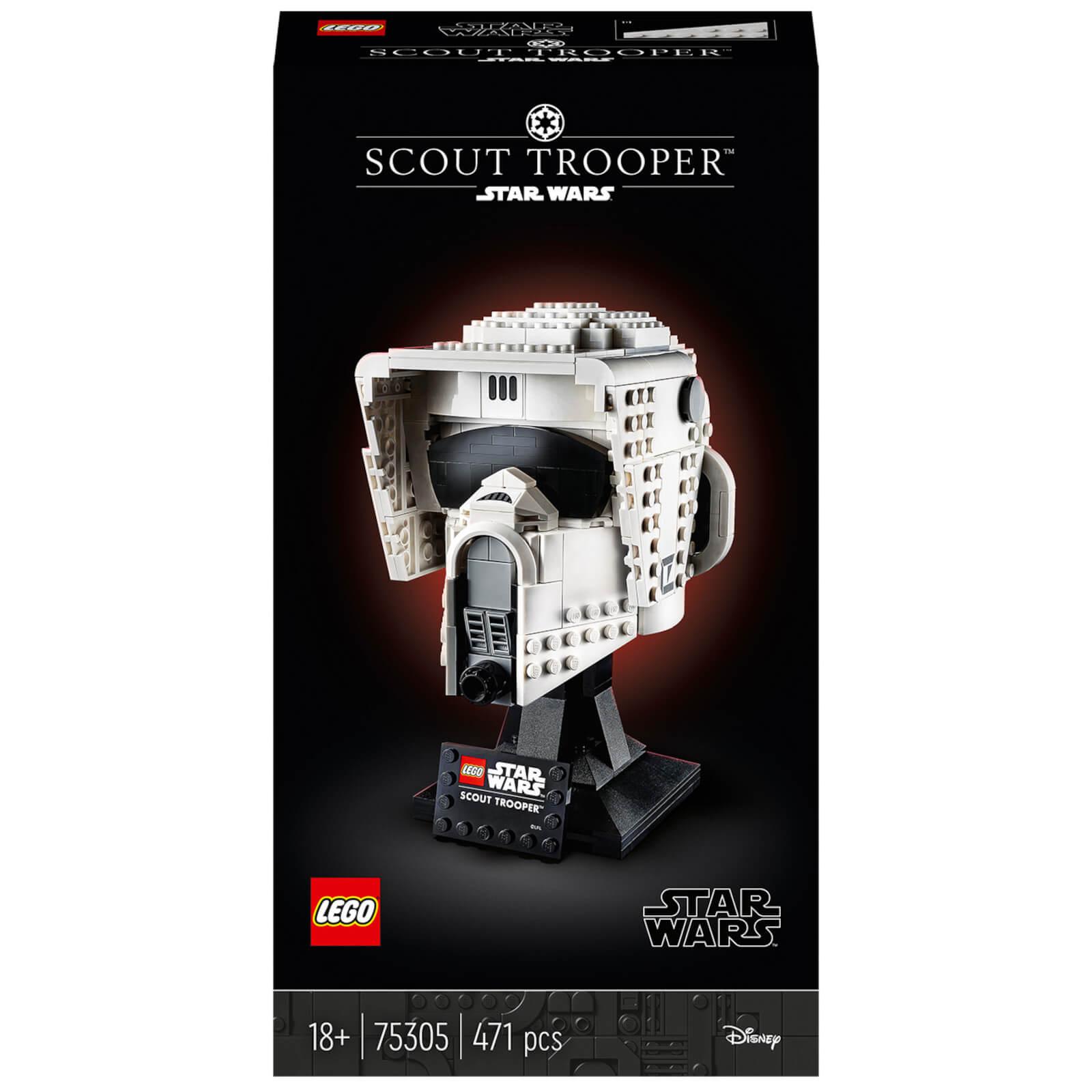 Image of LEGO Star Wars: Scout Trooper Helmet Set for Adults (75305)