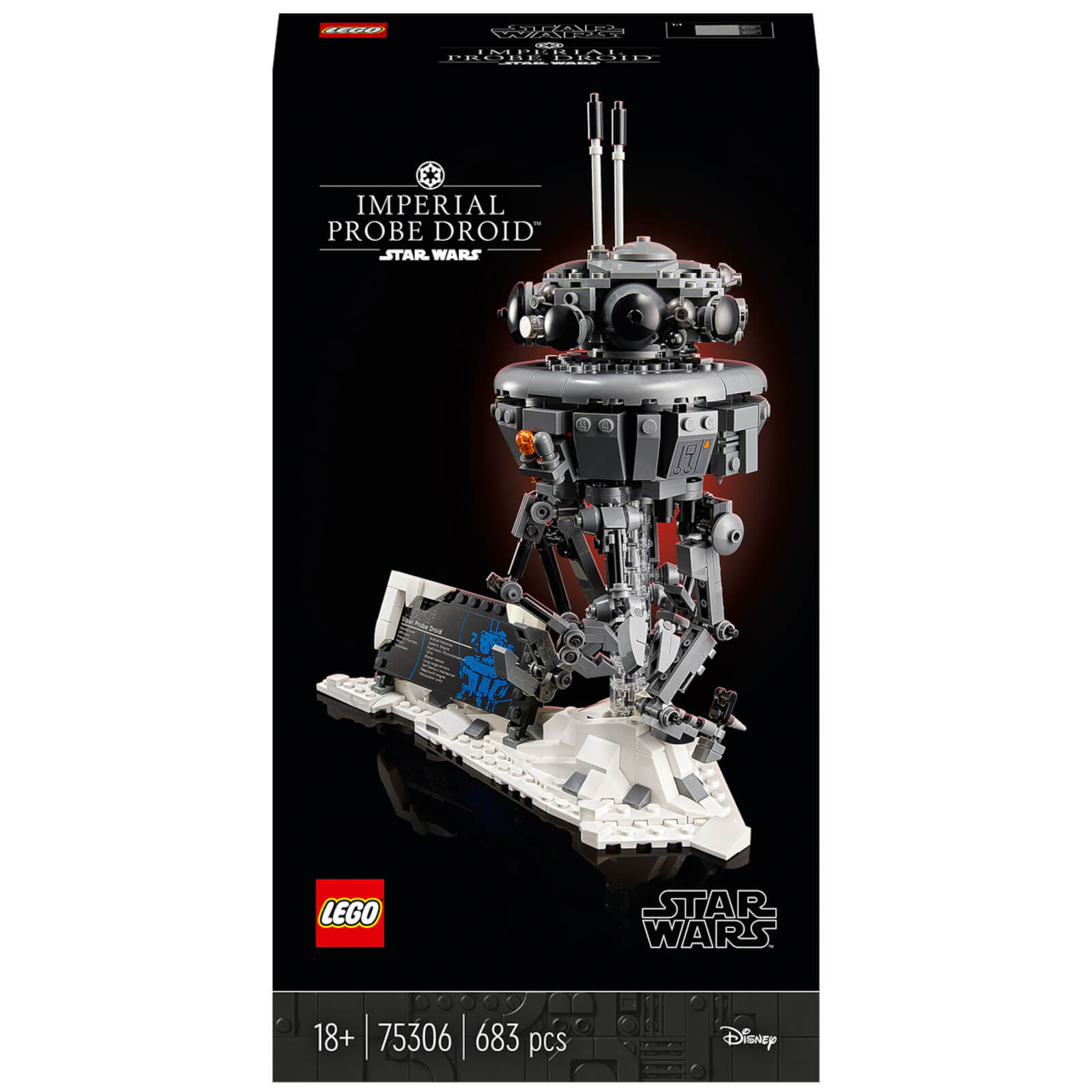 Image of LEGO Star Wars: Imperial Probe Droid Adult Building Set (75306)