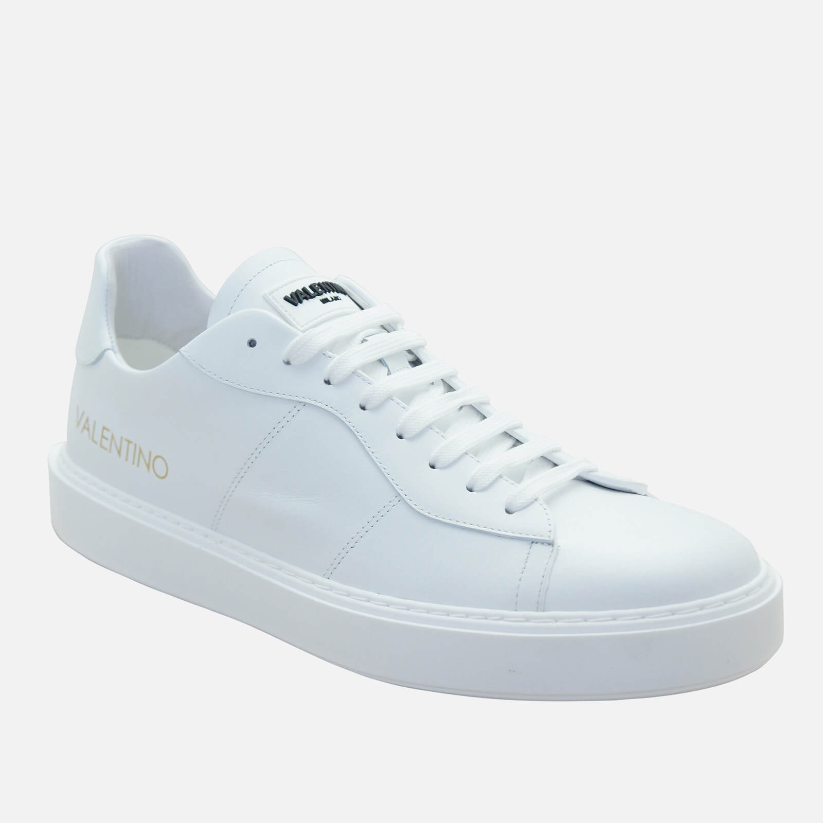 Valentino Shoes Men's Leather Chunky Trainers - White/Black - UK 7