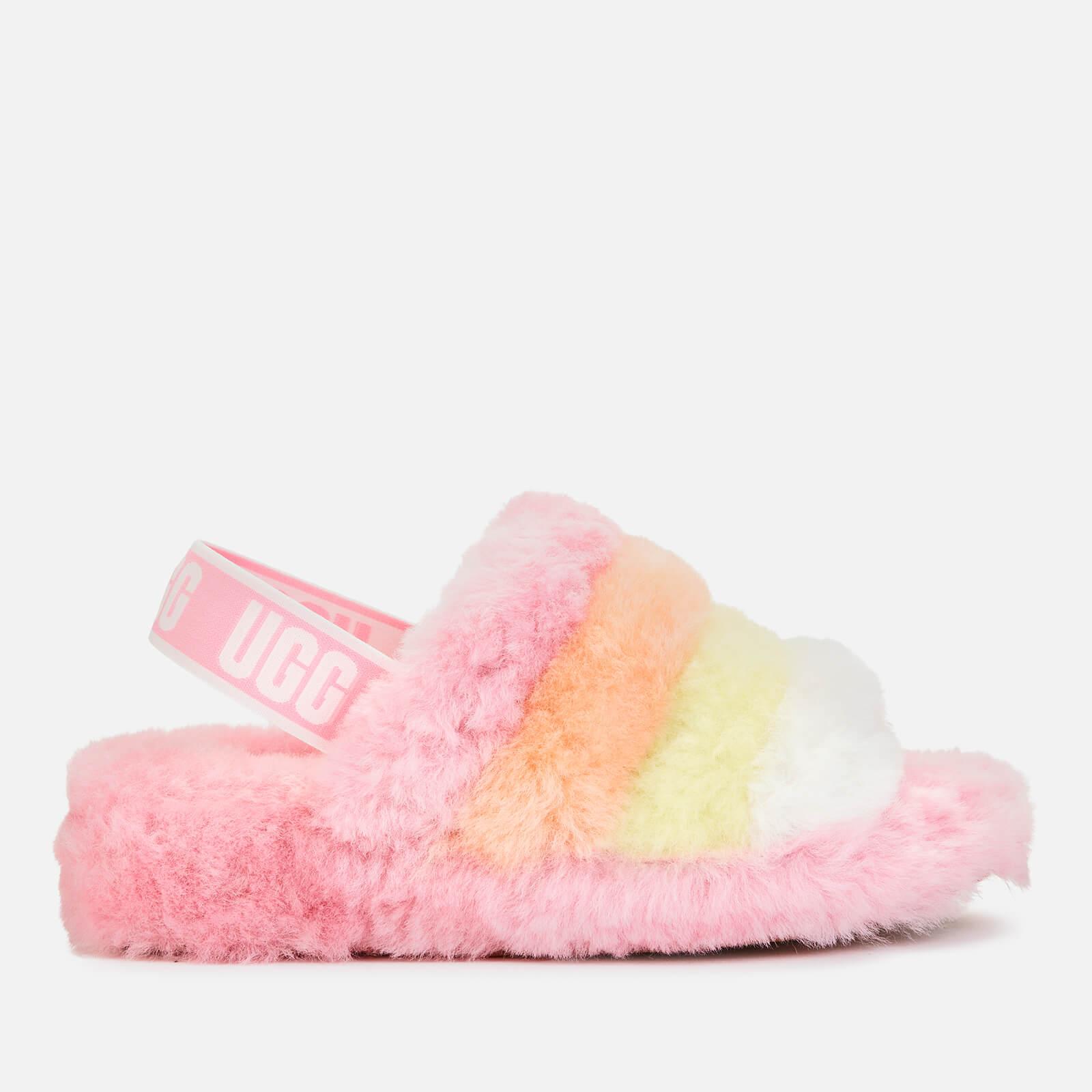 Ugg Women's Fluff Yeah Sheepskin Slippers - Sachet Pink - Uk 3