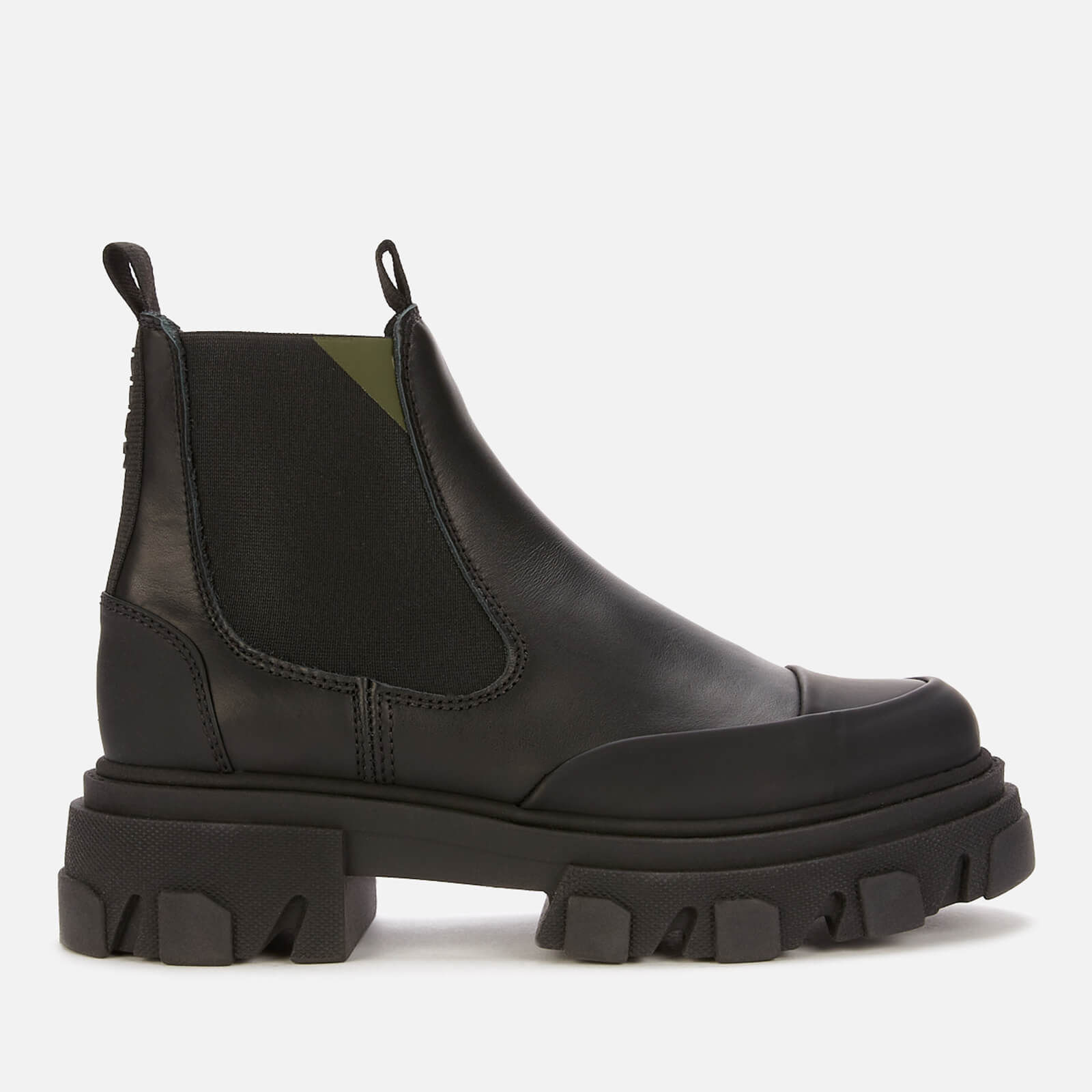 Ganni Women's Leather Chelsea Boots - Black - Uk 6