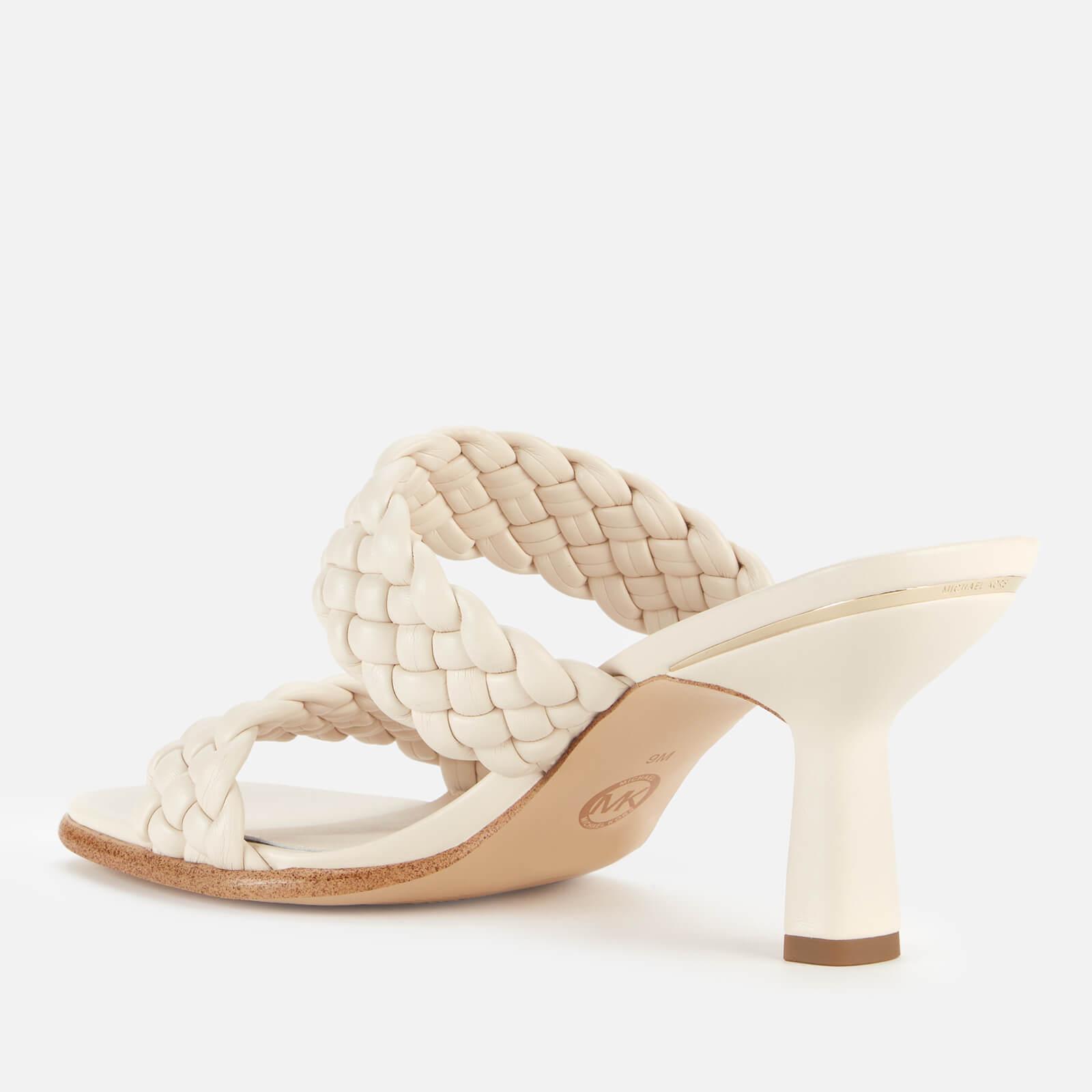 Michael Michael Kors Women's Amelia Leather Heeled Mules - Light Cream - Uk 8 40s1ammp1l Mens Footwear, White