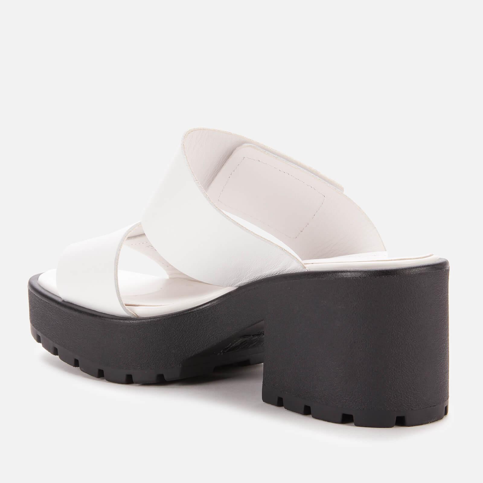 Vagabond Women's Dioon Leather Heeled Mules - White - Uk 4