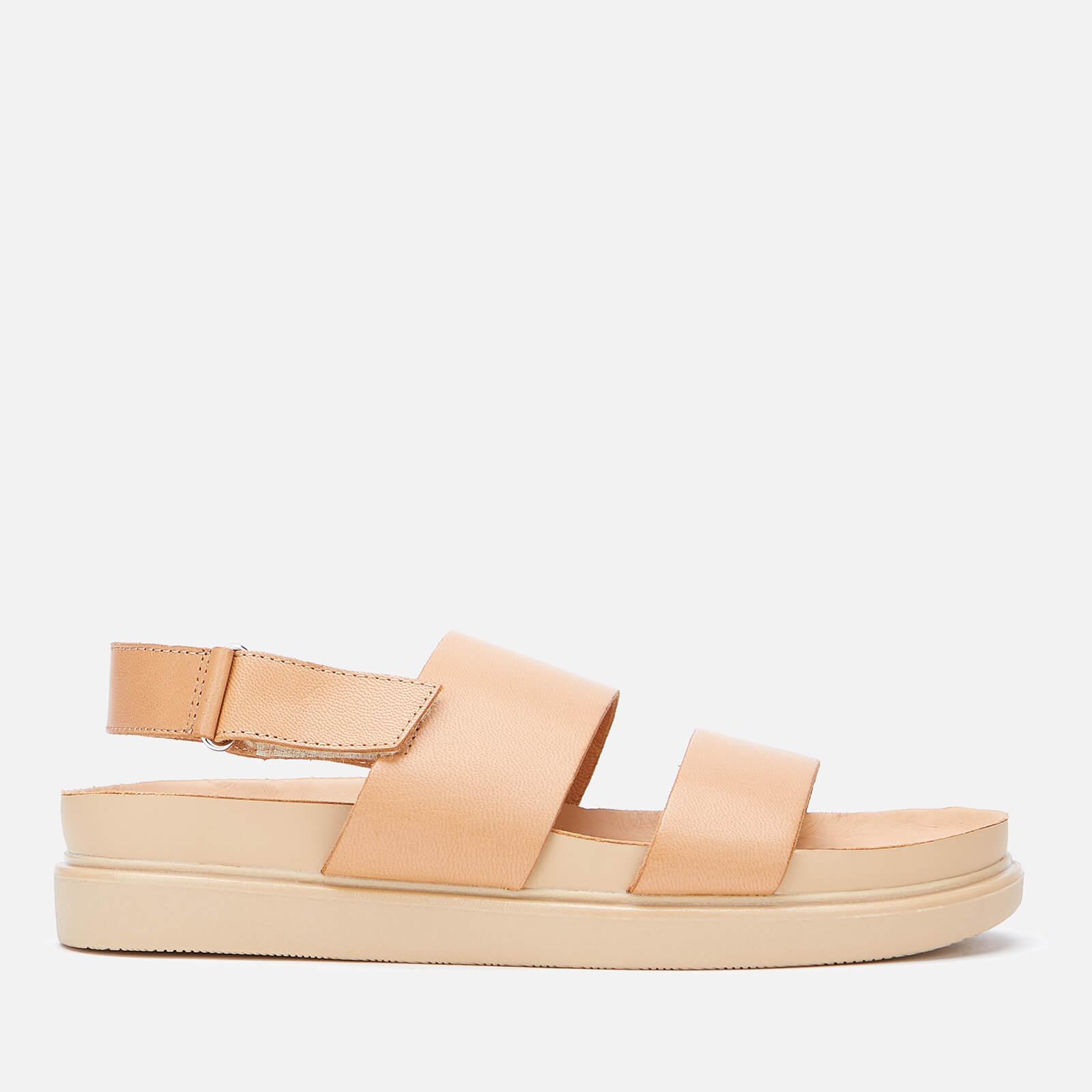 Vagabond Women's Erin Leather Flat Sandals - Natural - Uk 3