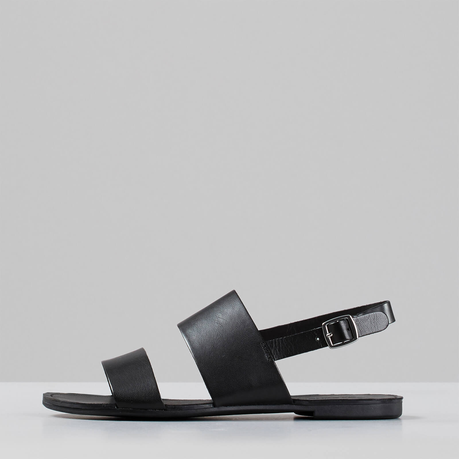 Vagabond Women's Tia Leather Double Strap Sandals - Black - Uk 3