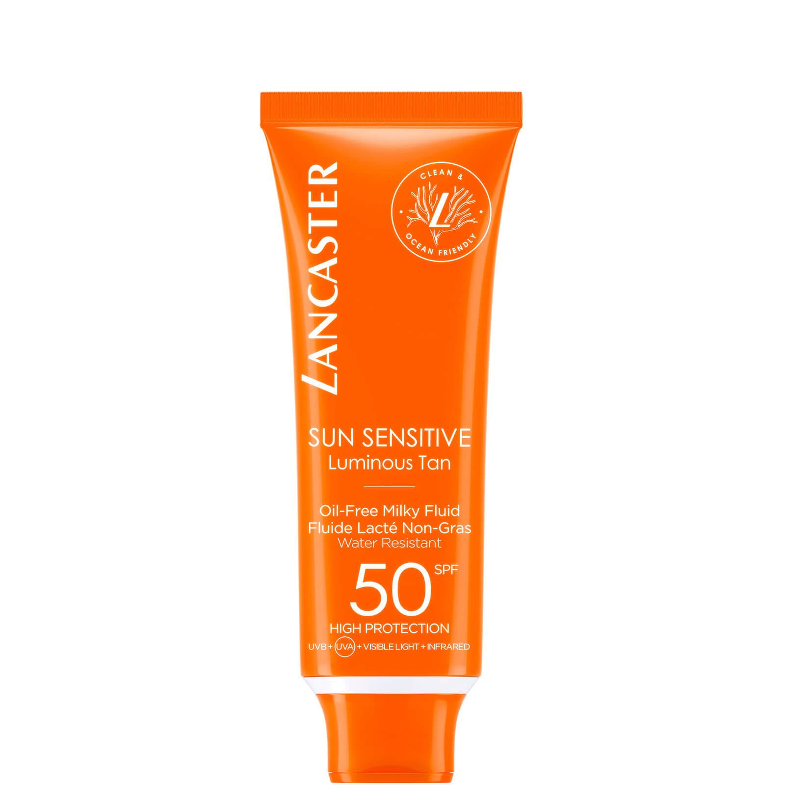 Купить Безмасляный солнцезащитный крем для лица Lancaster Sun Sensitive Oil-Free Face Sun Protection Cream SPF50 50 мл