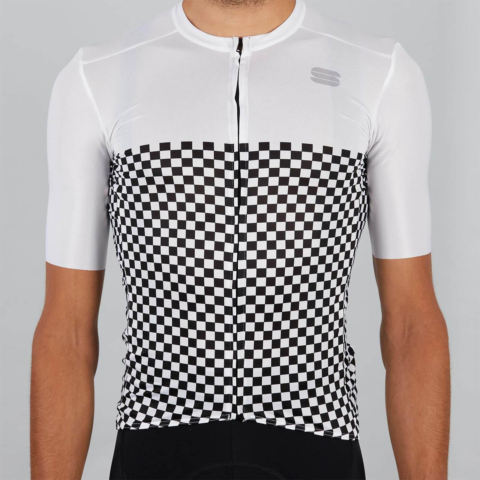Sportful Checkmate Jersey - XL - Weiß
