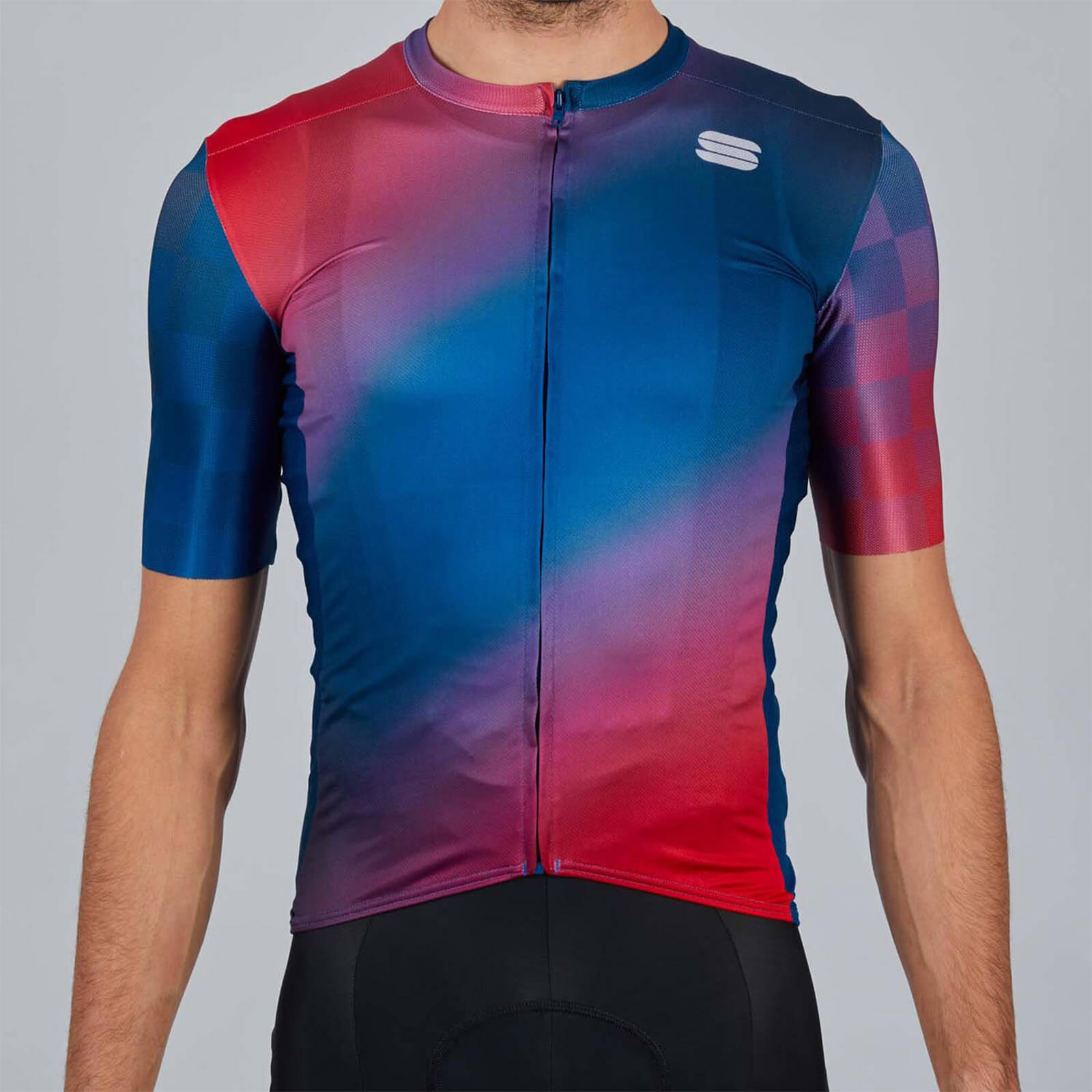 Sportful Rocket Jersey - L - Blue/Red