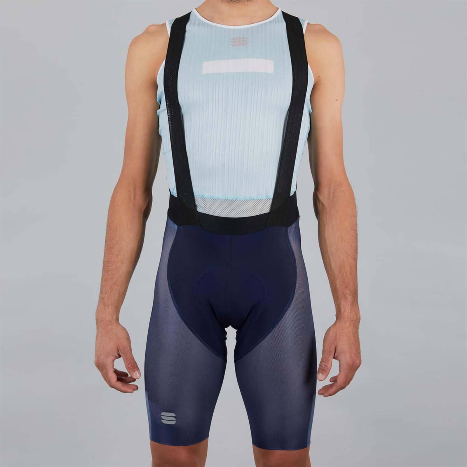 Sportful BodyFit Pro Air Bib Shorts - S - Blue/Blue Sea
