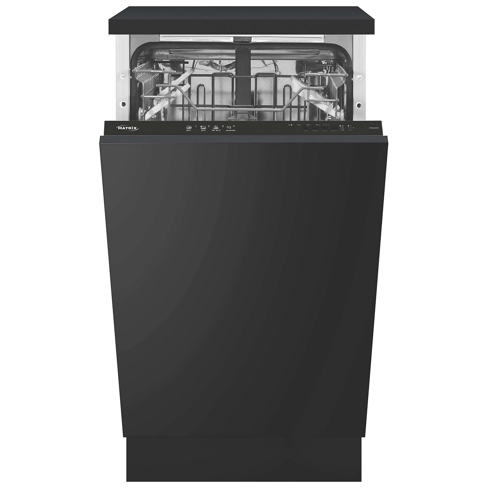Matrix MDI4011 Integrated Slimline Dishwasher - 45cm