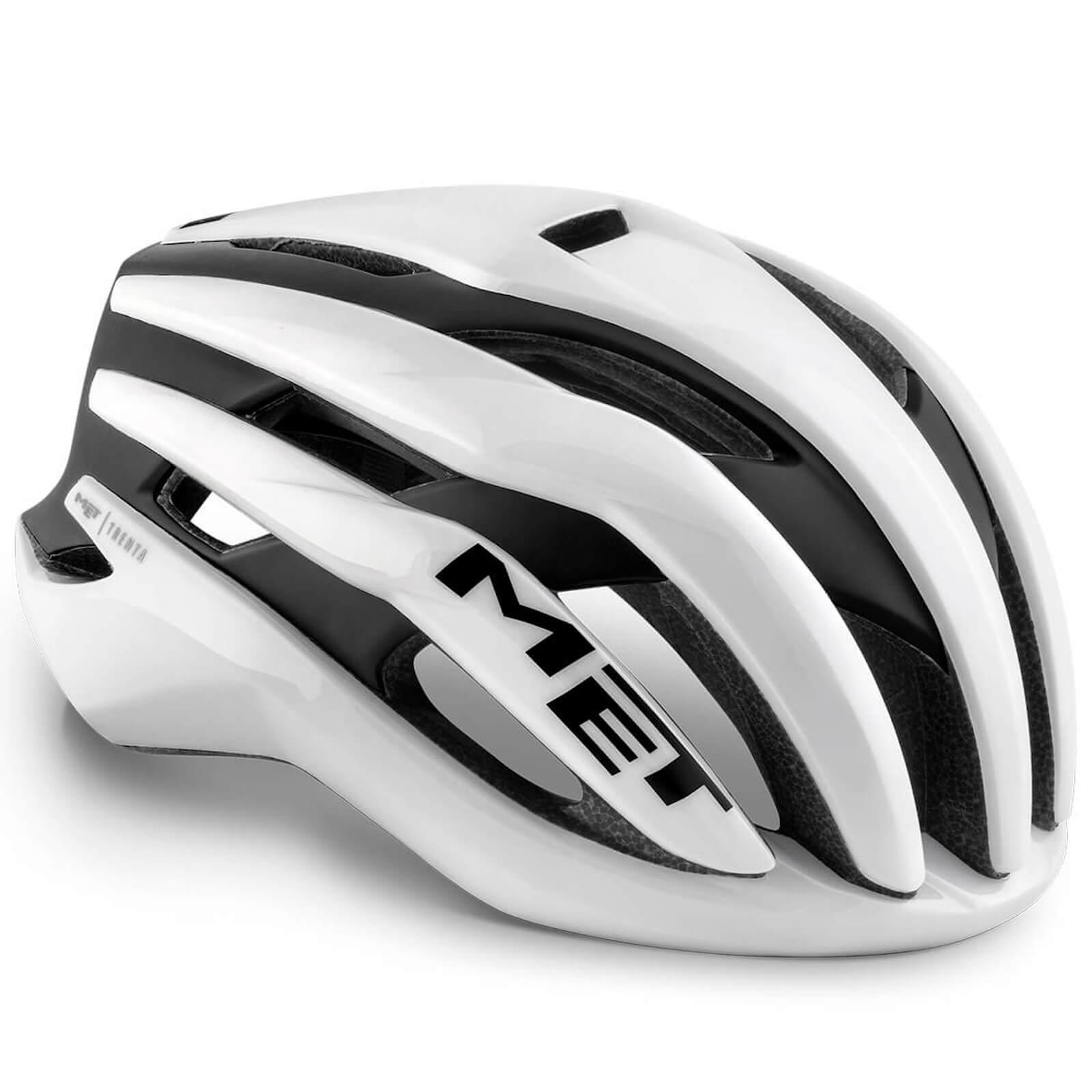 MET Trenta MIPS Road Helmet - M/56-58cm - White Black