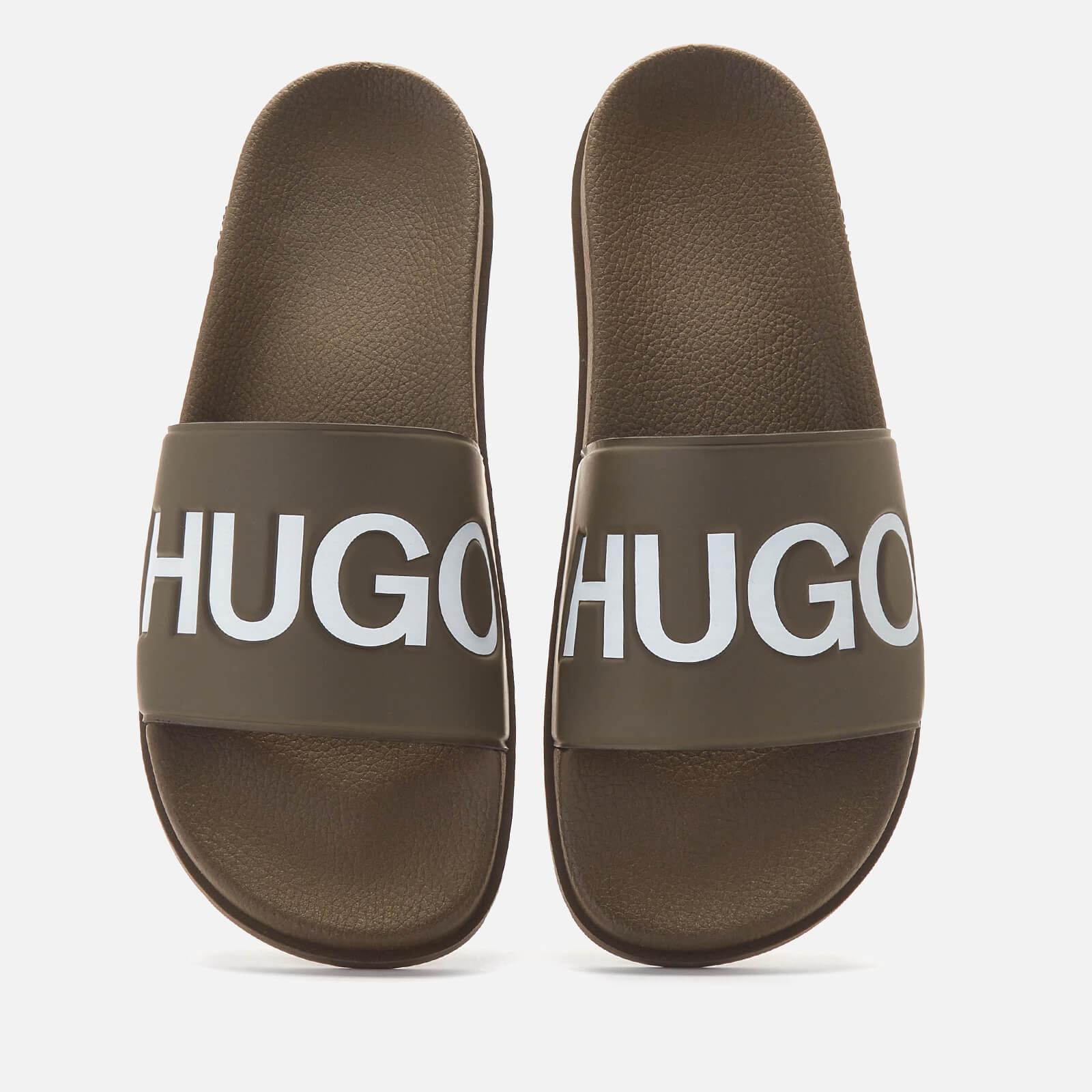 HUGO Men's Match Slide Sandals - Green - UK 7