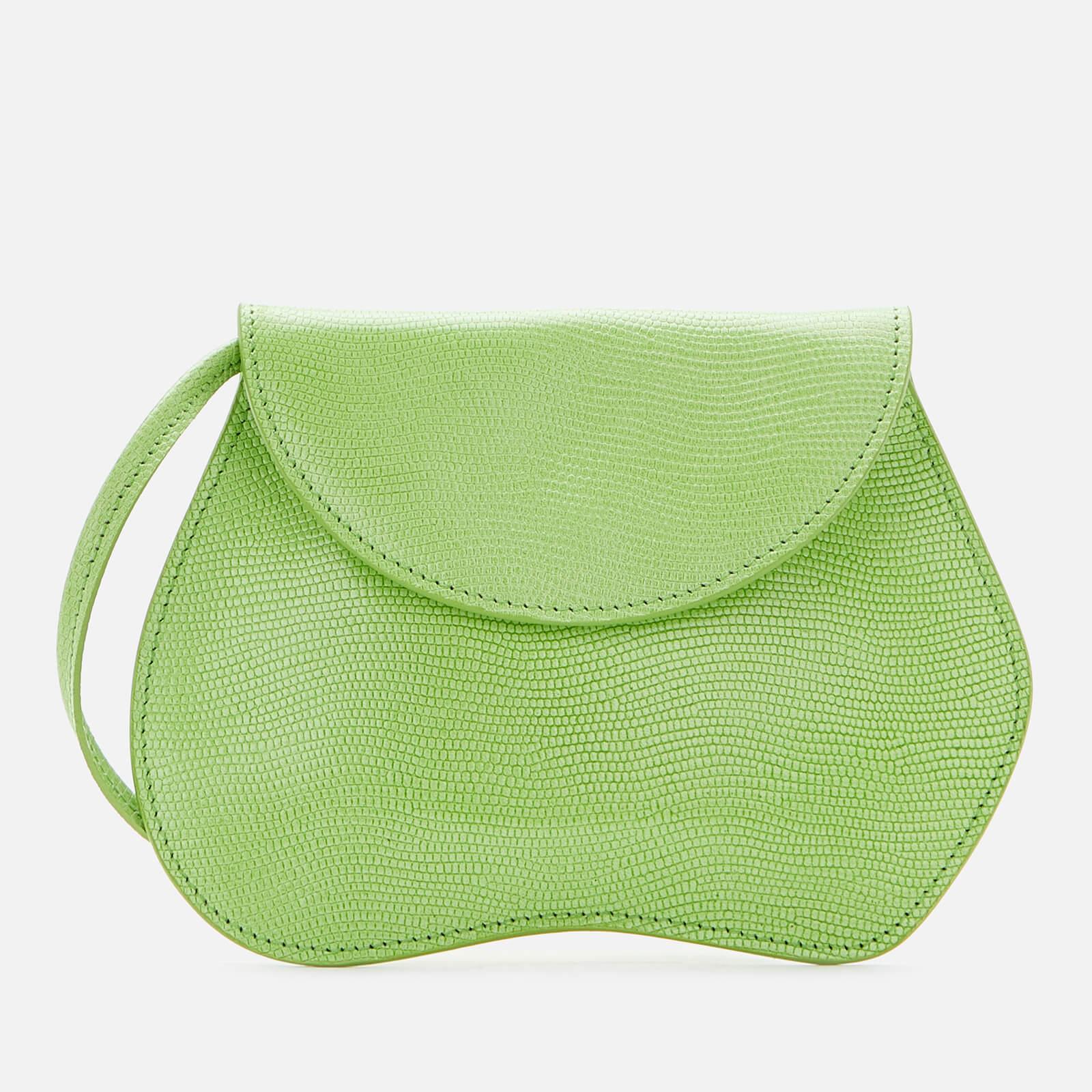Little Liffner Women's Pebble Lizard Micro Bag - Acid Green