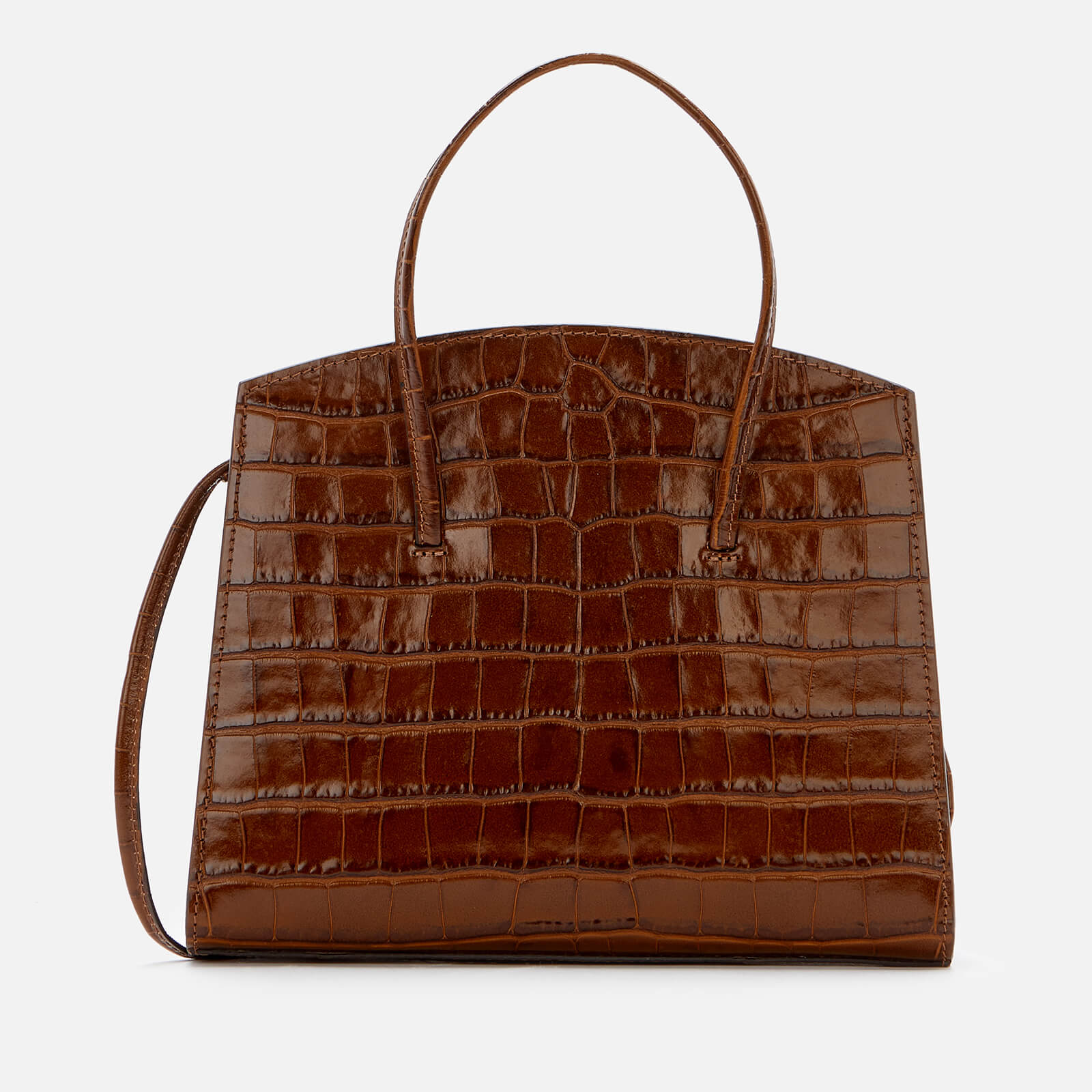 Little Liffner Women's Minimal Mini Tote Bag Croc - Brown