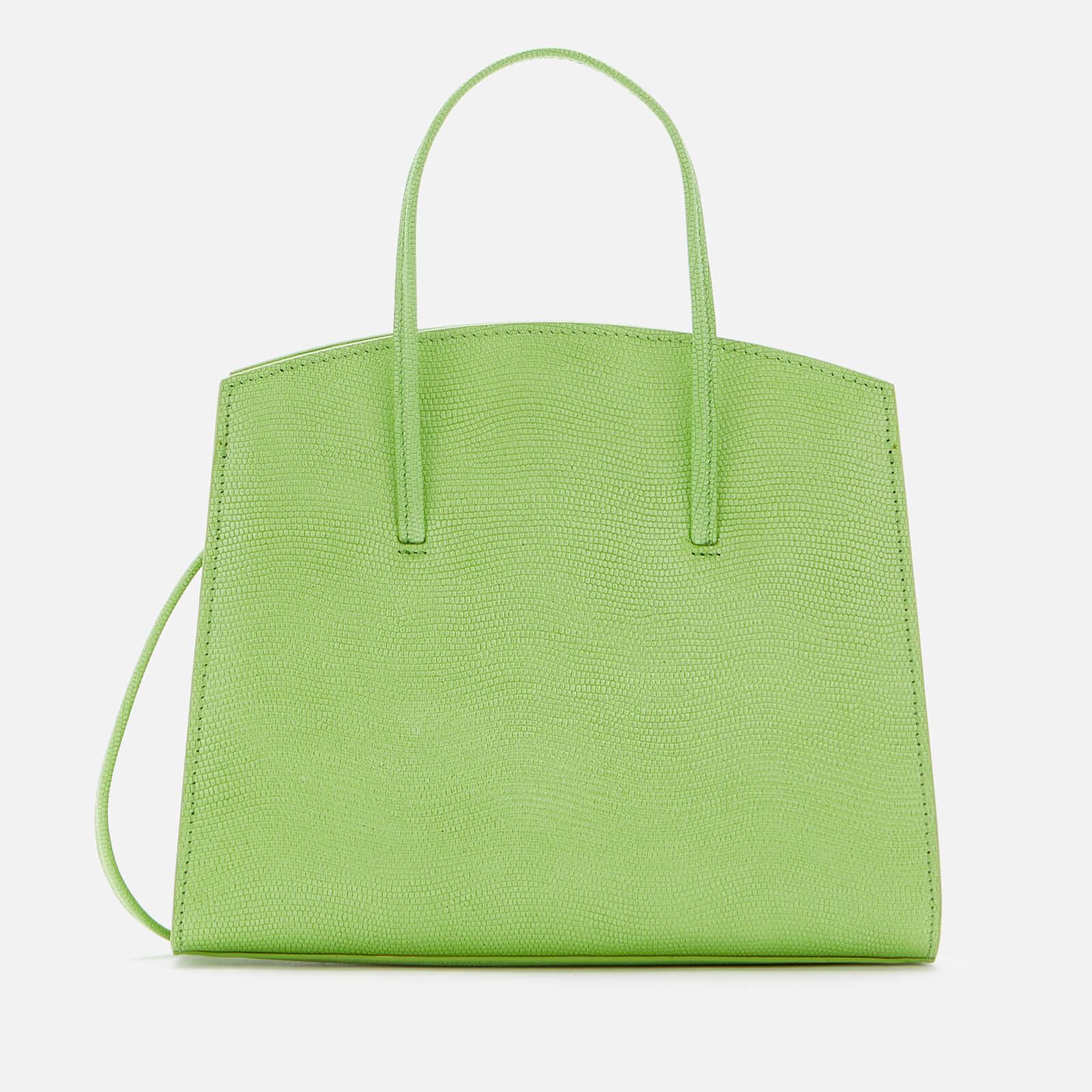 Little Liffner Women's Minimal Mini Tote Bag Lizard - Acid Green