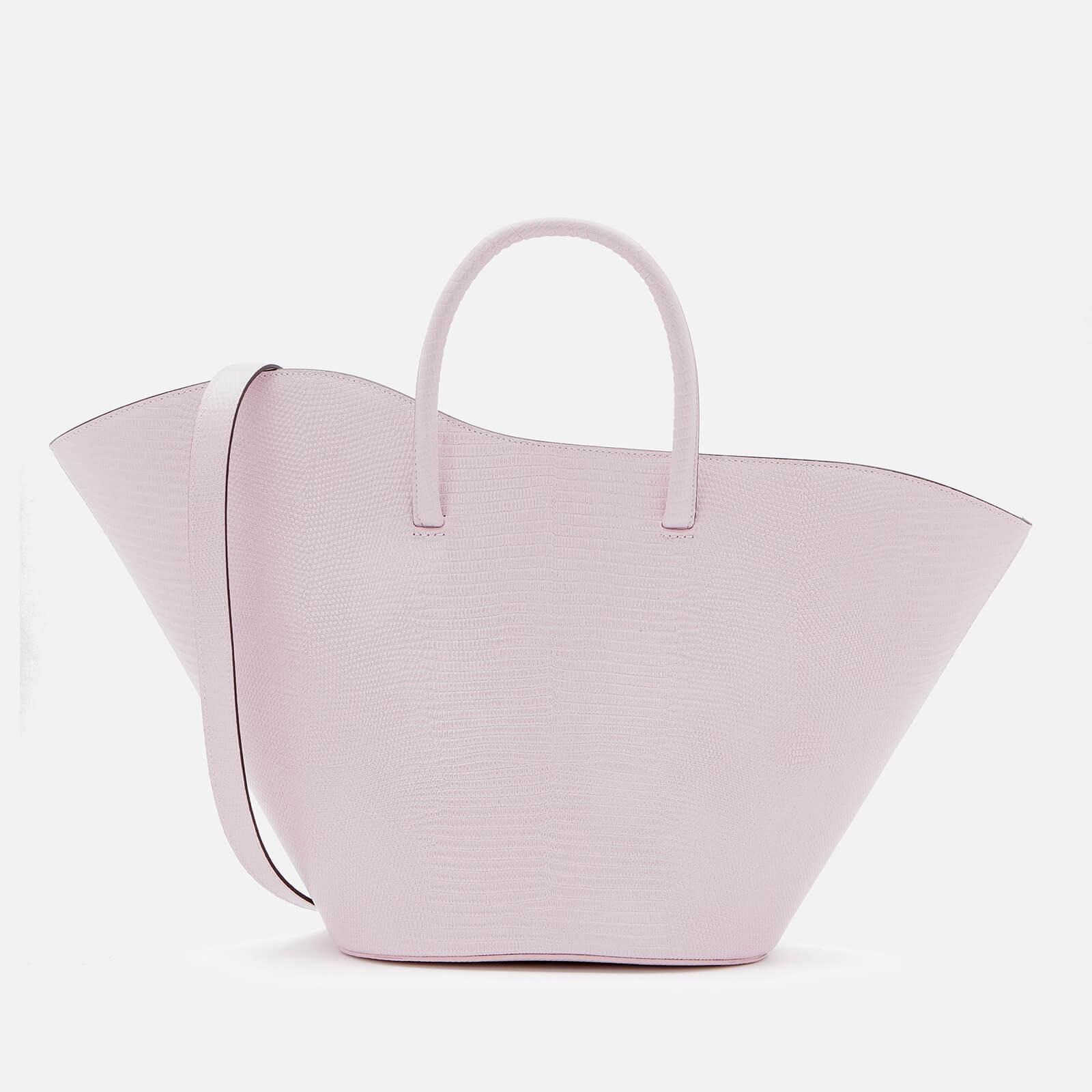 Little Liffner Women's Open Tulip Tote Bag Medium Lizard - Pink