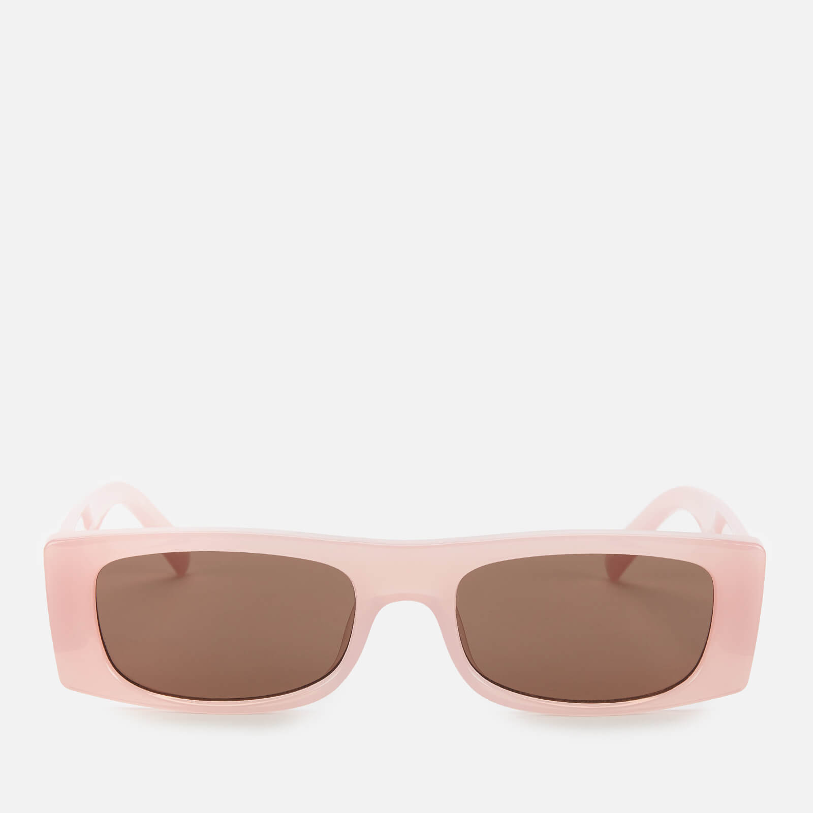 Le Specs Women's Recovery Rectangular Sunglasses - Rosewater