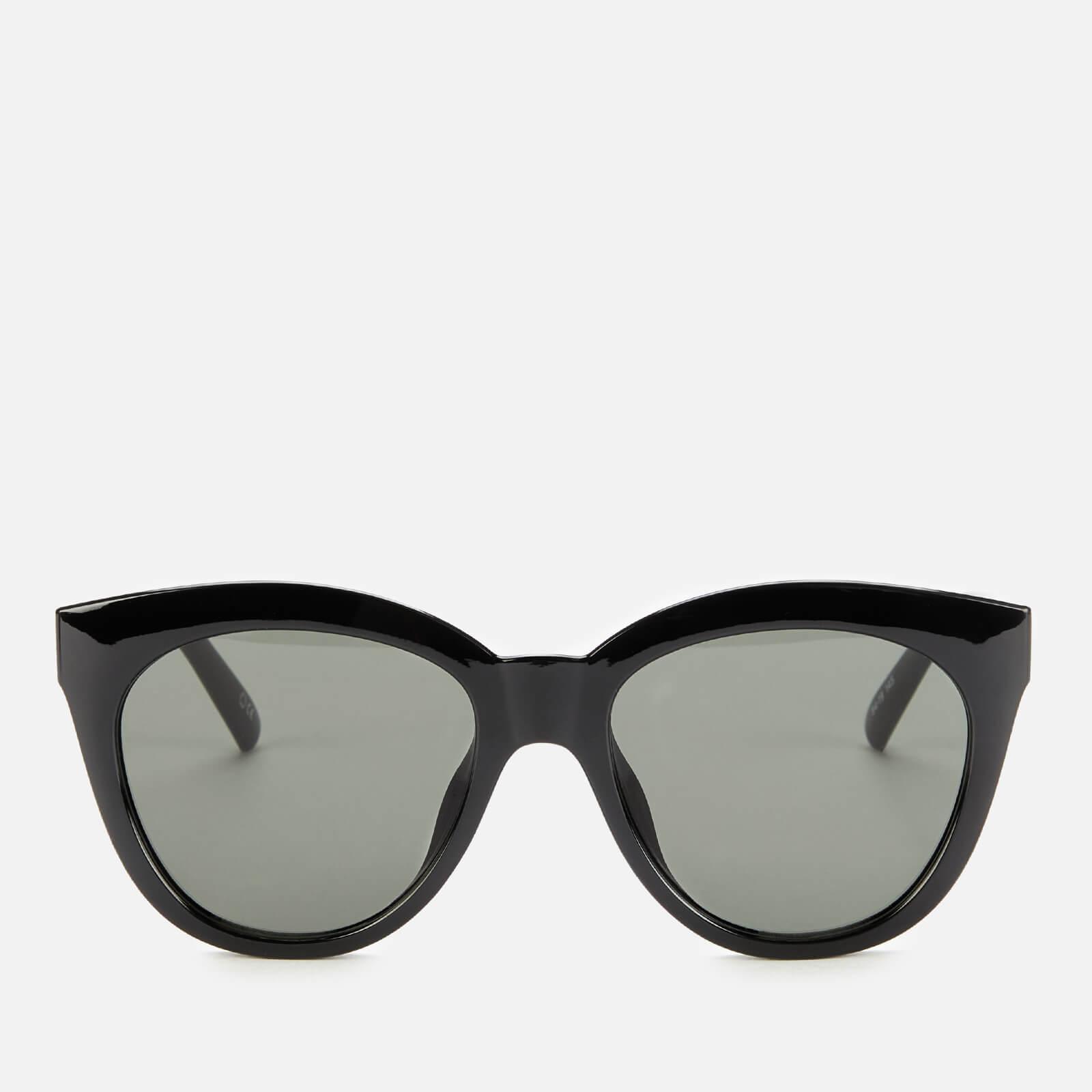 Le Specs Women's Resumption Round Sunglasses - Black