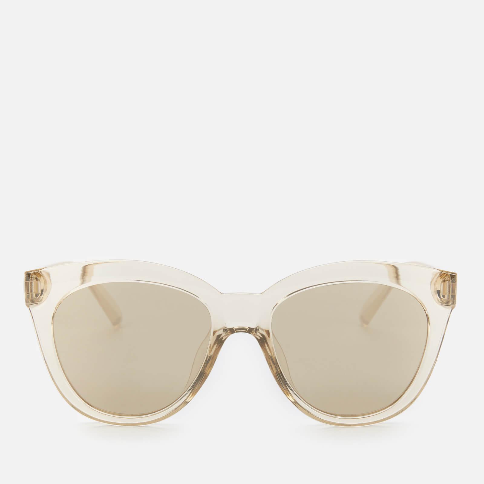 Le Specs Women's Resumption Round Sunglasses - Stone
