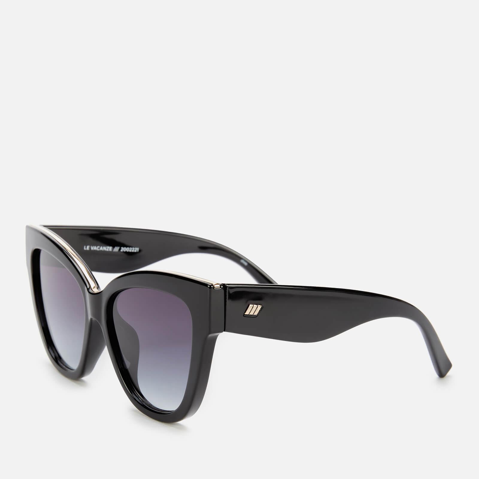 Le Specs Women's Le Vacanze Cat Eye Sunglasses - Black/Gold