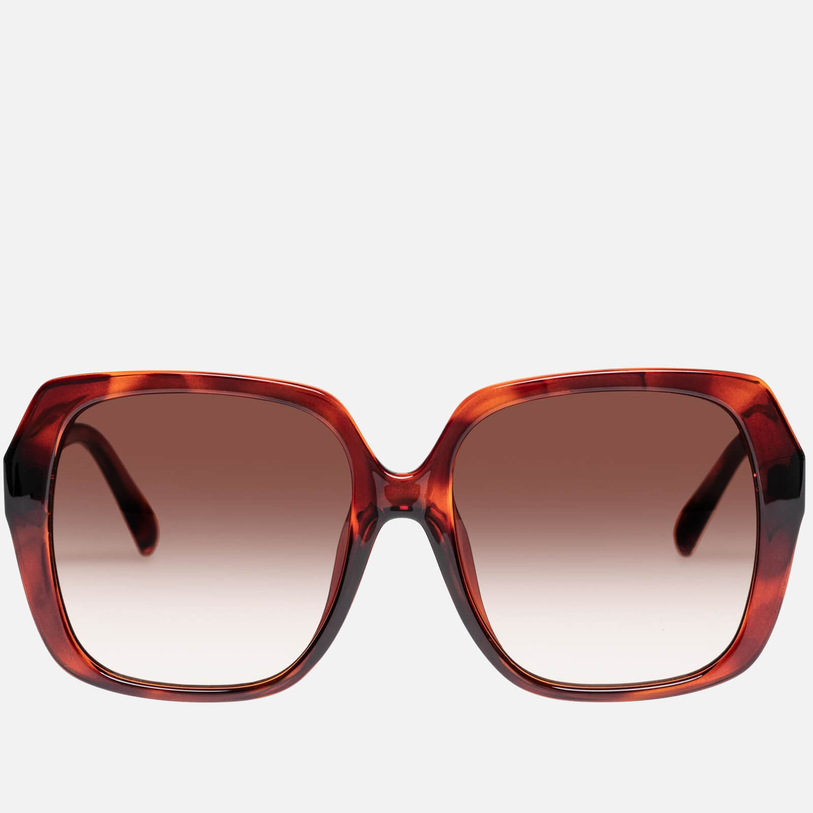 Le Specs Women's Frofro Oversized Sunglasses - Toffee Tort