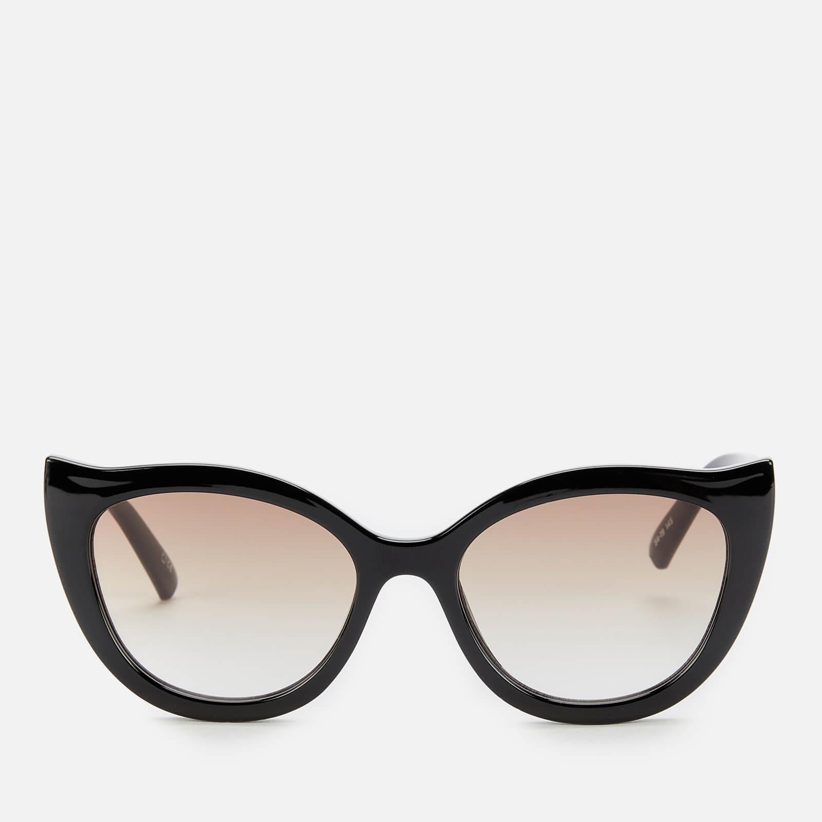 Le Specs Women's Flossy Cat Eye Sunglasses - Black