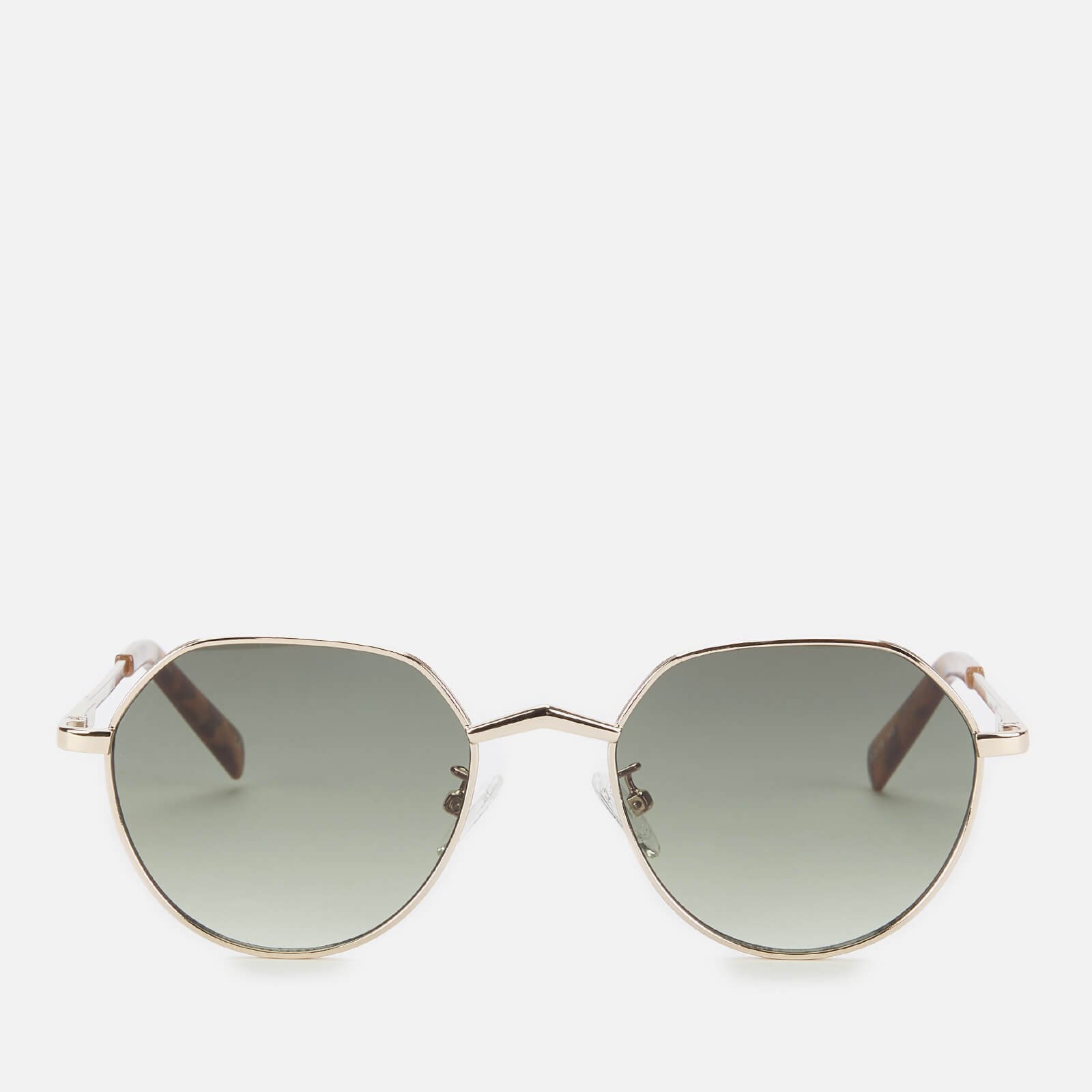 Le Specs Women's Newfangle Square Sunglasses - Gold