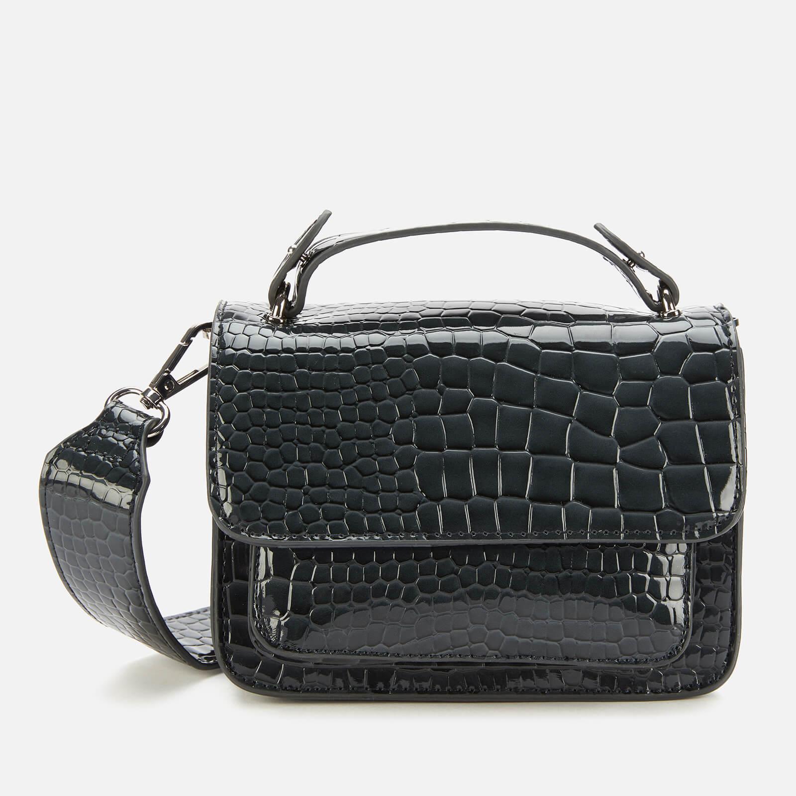HVISK Women's Renei Croco Cross Body Bag - Grey Dark