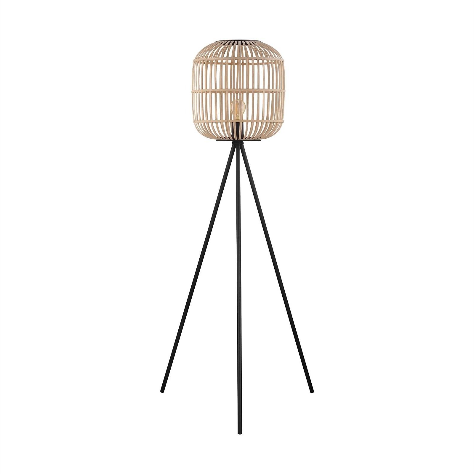 Eglo Bordesley Wooden Floor Lamp