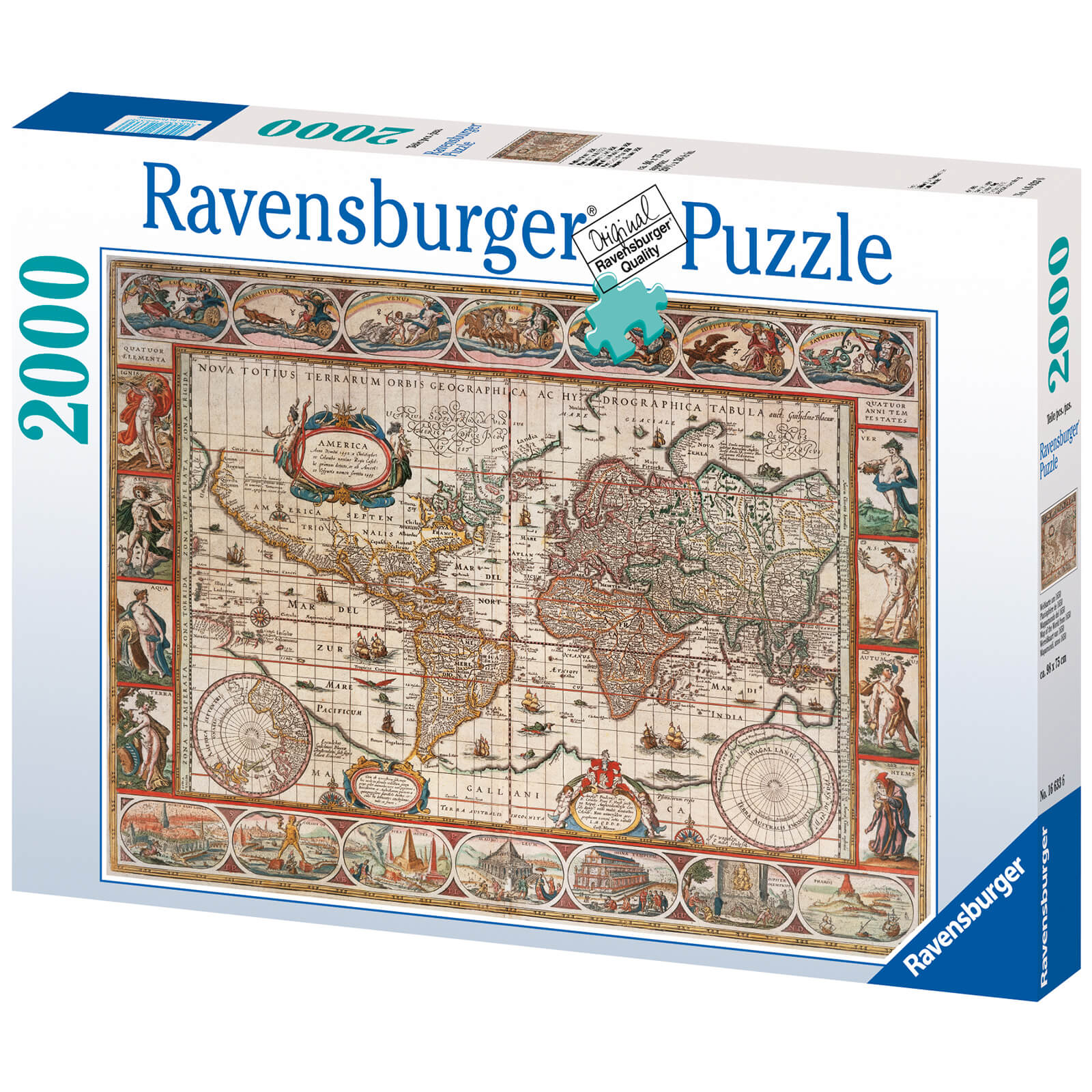 Image of Map of the World From 1650 Jigsaw Puzzle (2000 Pieces)