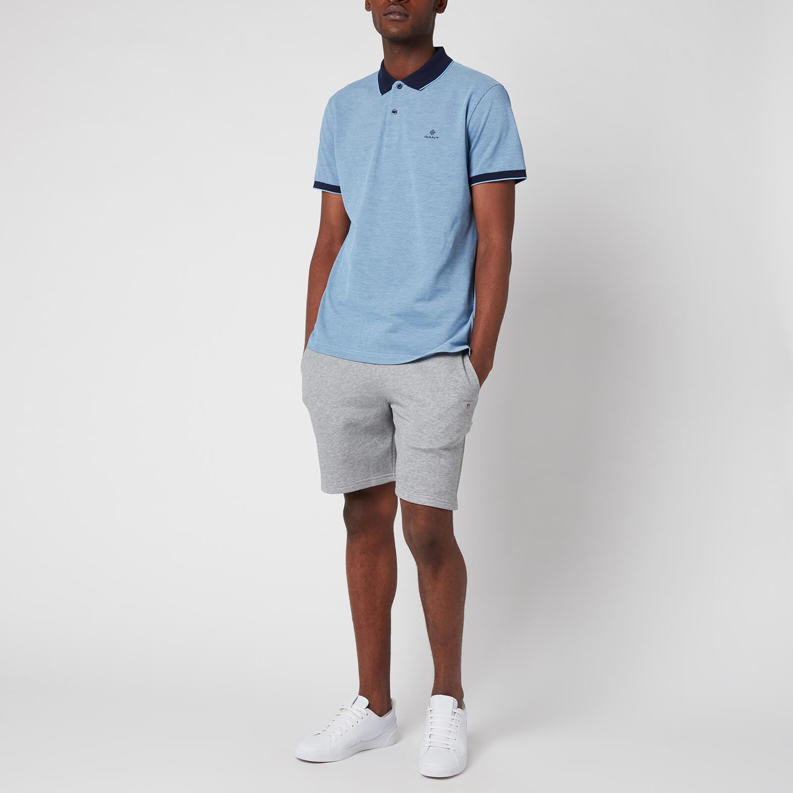 Gant Men's Oxford Pique Polo Shirt - Powder Blue - S 2012012477 General Clothing, Blue