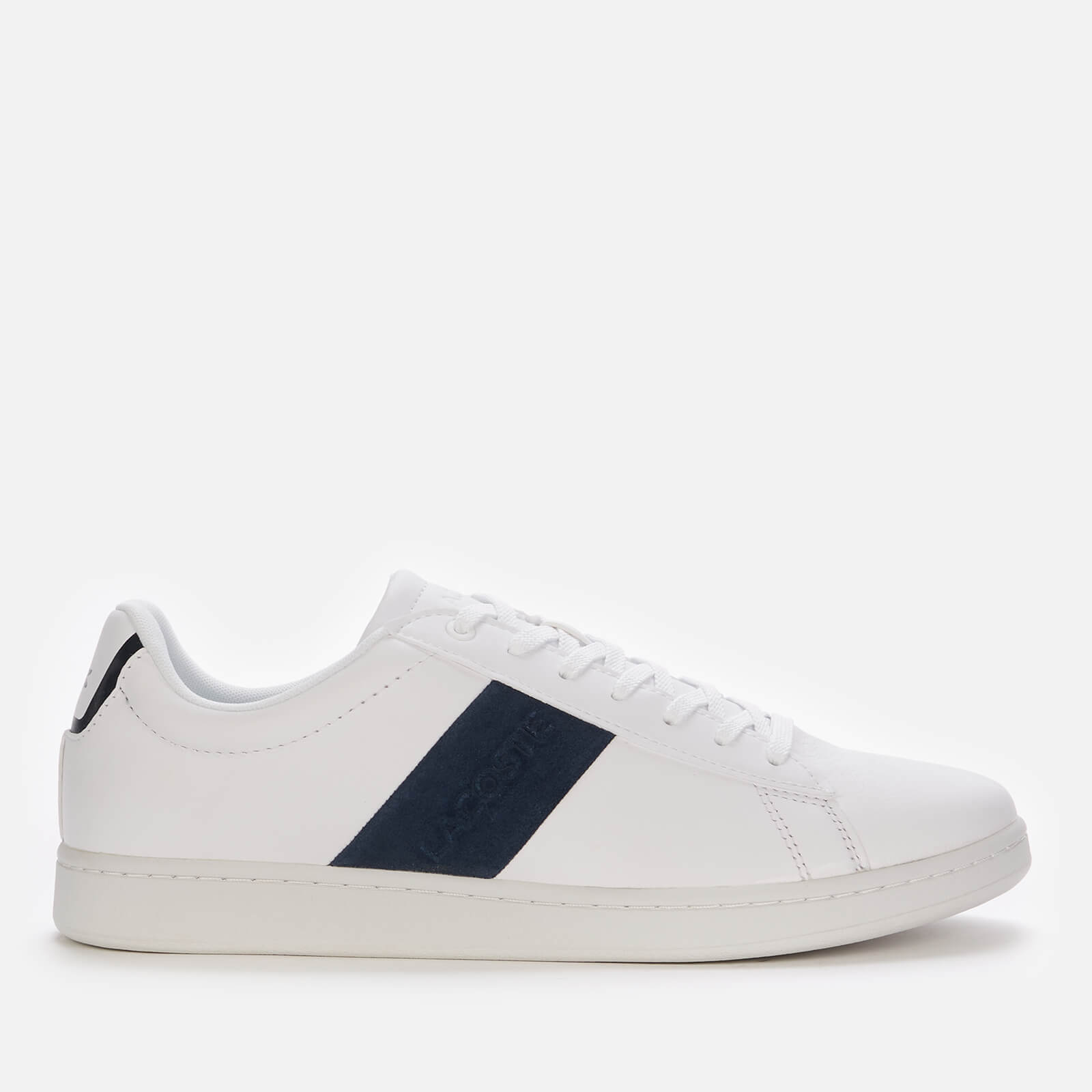 Lacoste Men's Carnaby Evo 0120 3 Leather Cupsole Trainers - White/Navy - UK 10